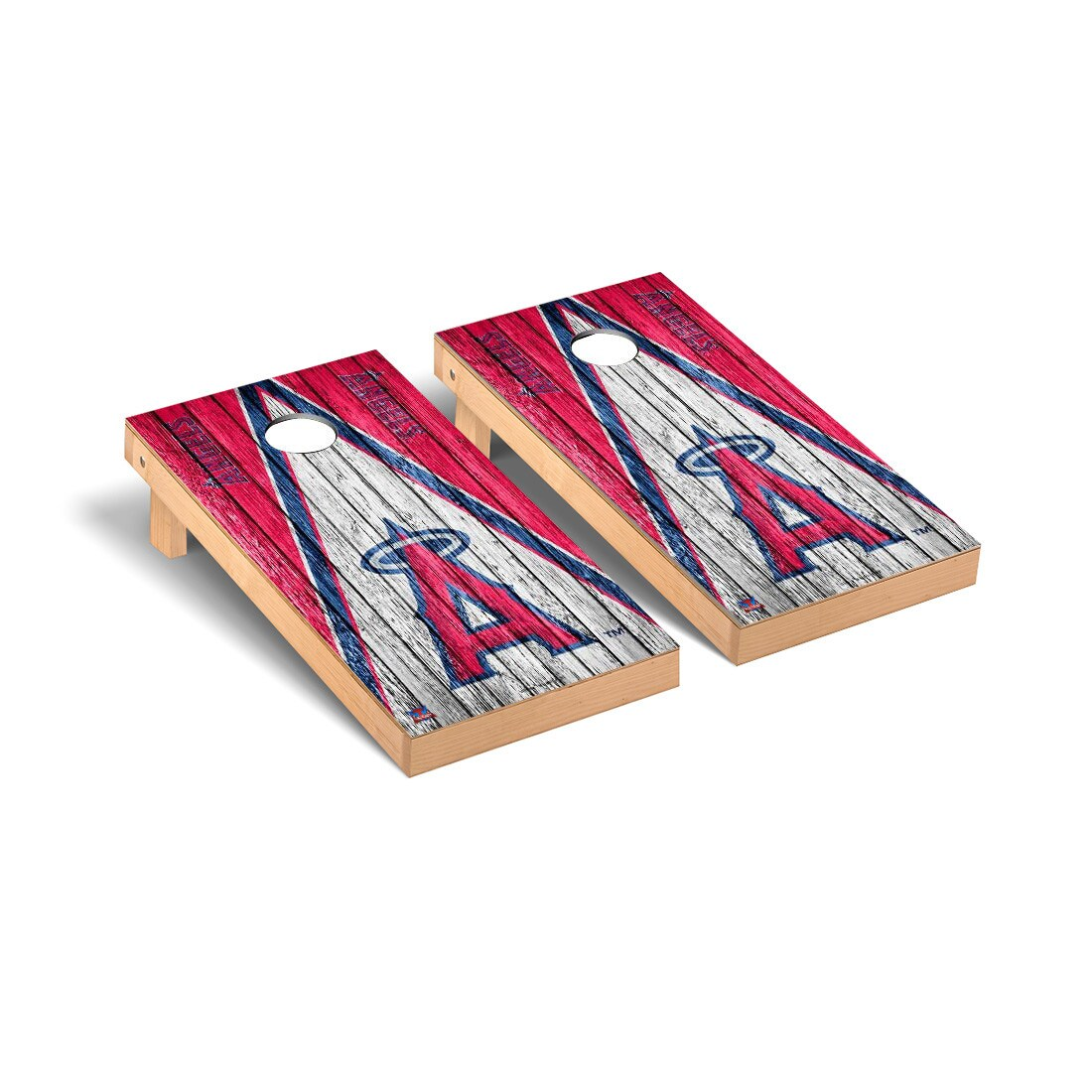 Los Angeles Angels 2' x 4' Weathered Cornhole Board Tailgate Toss Set