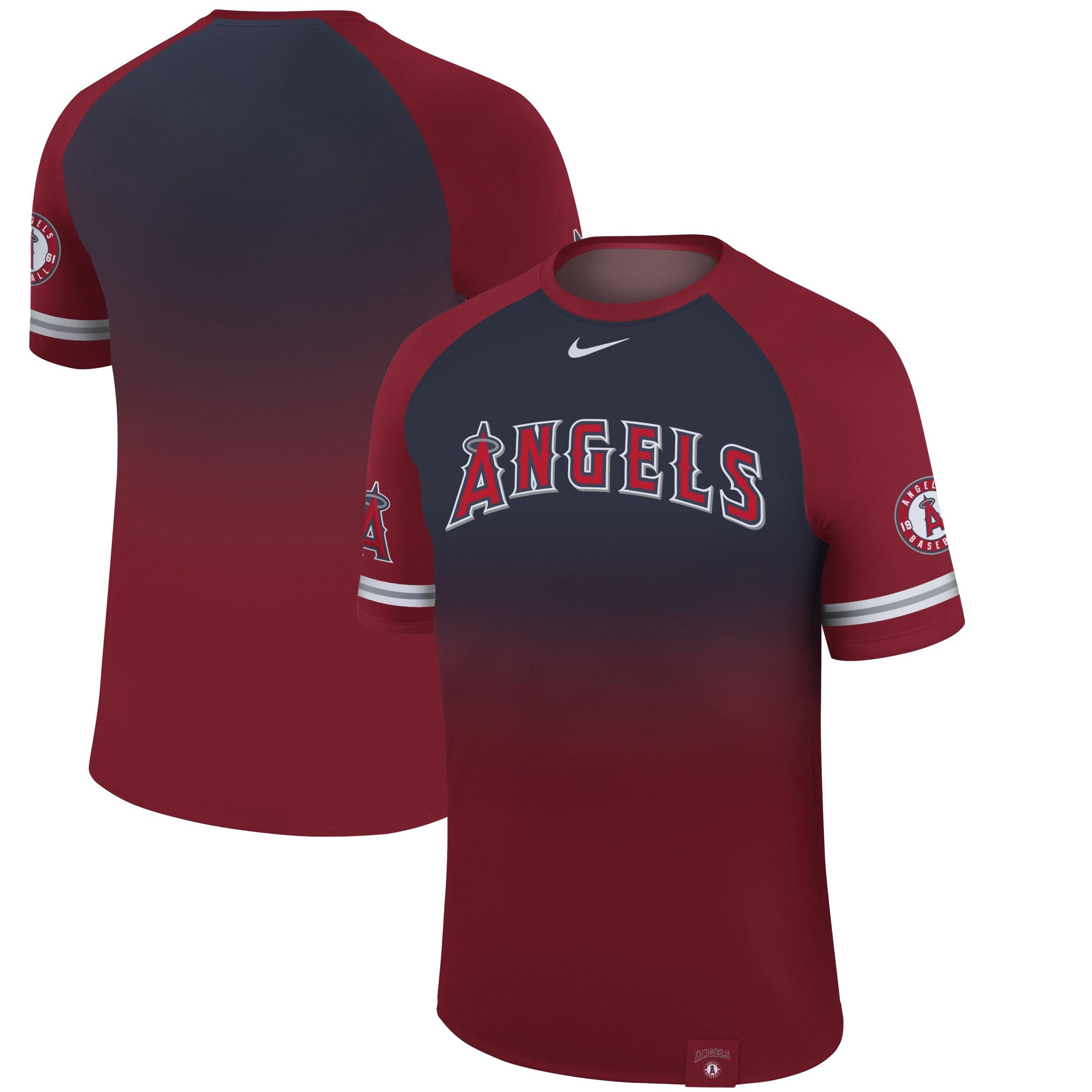 Los Angeles Angels Nike Legend Raglan T-Shirt - Red