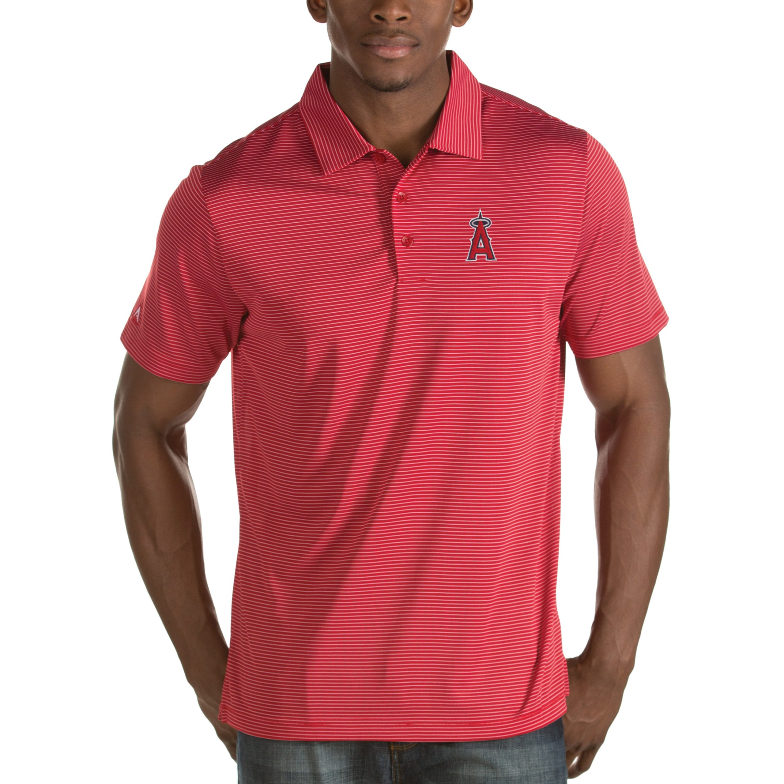Los Angeles Angels Antigua Quest Desert Dry Polo - Red