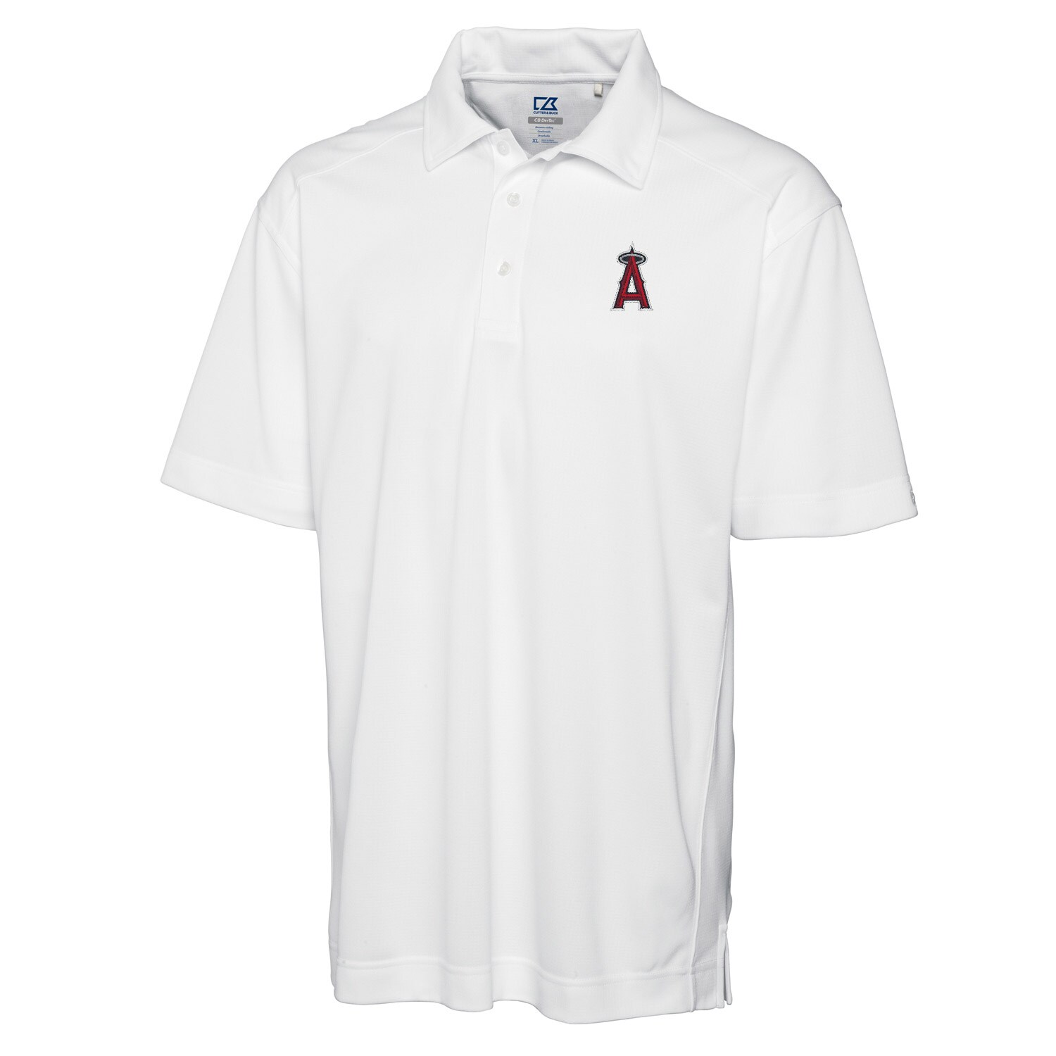 Los Angeles Angels Cutter & Buck Big & Tall DryTec Genre Polo - White