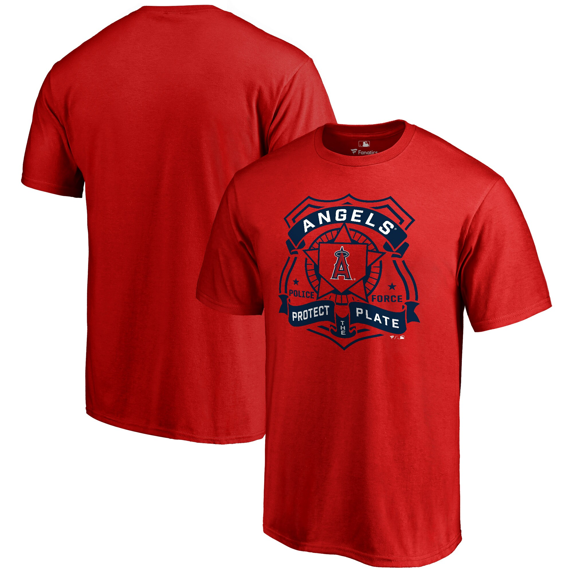 Los Angeles Angels Police Badge T-Shirt - Red