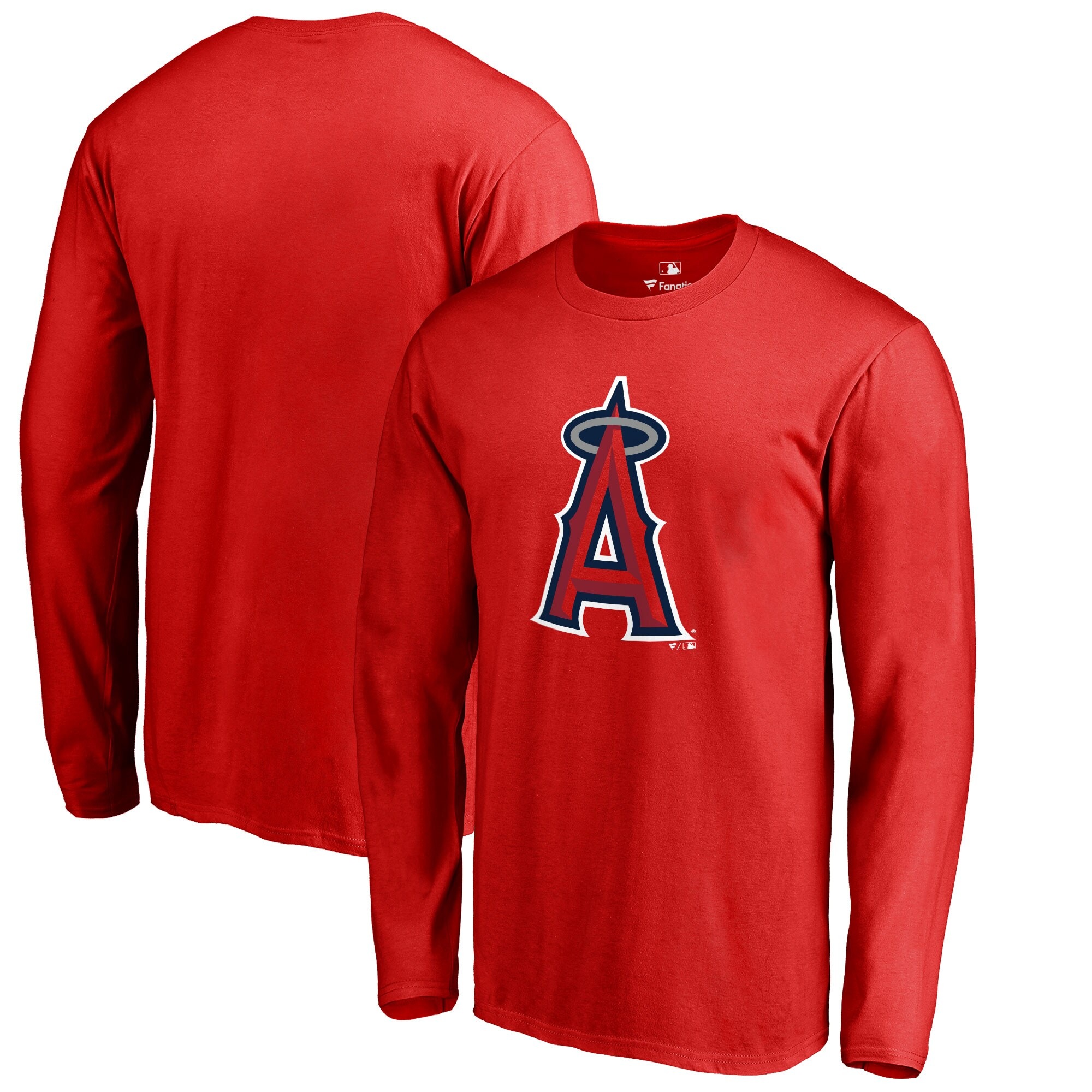 Los Angeles Angels Big & Tall Primary Team Logo Long Sleeve T-Shirt - Red