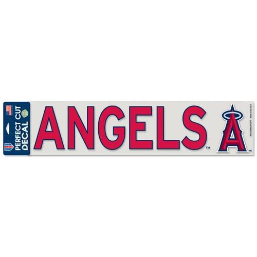 "Los Angeles Angels WinCraft 4"" x 17"" Die Cut Decal - Red"