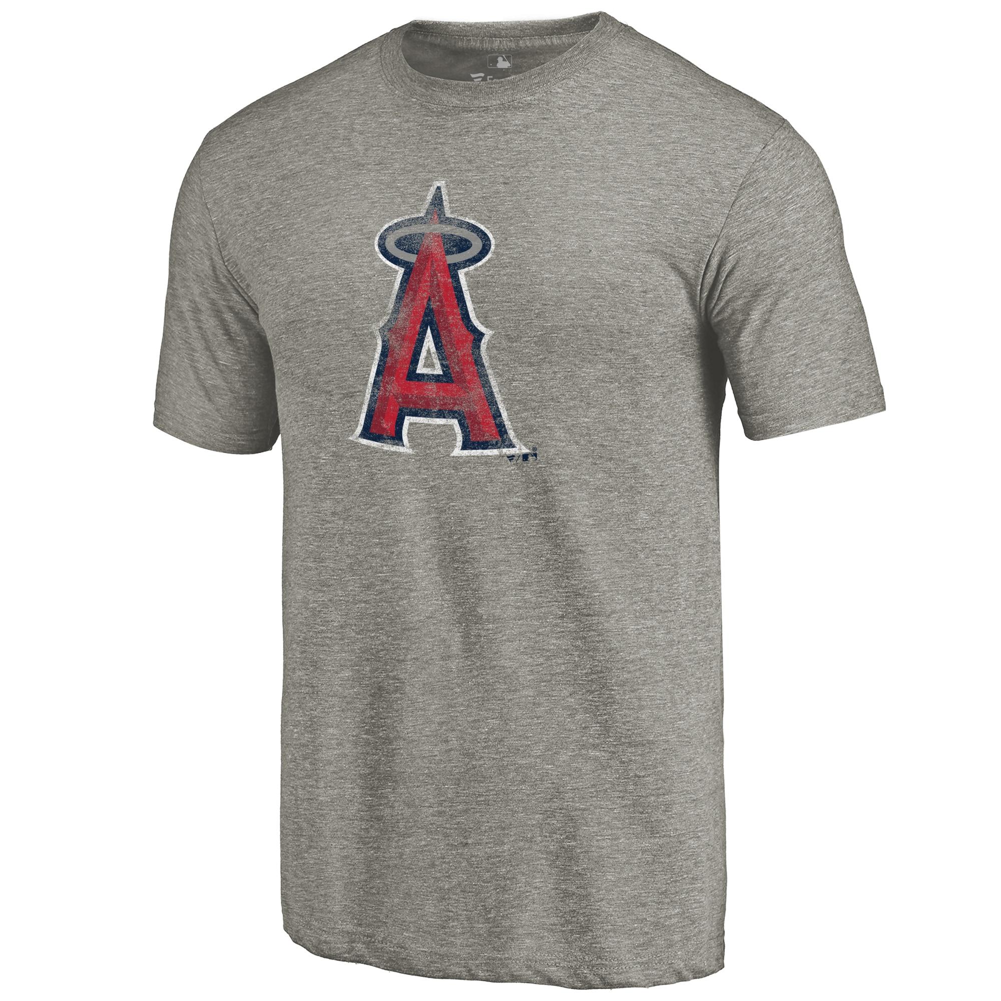 Los Angeles Angels Distressed Team Tri-Blend T-Shirt - Ash