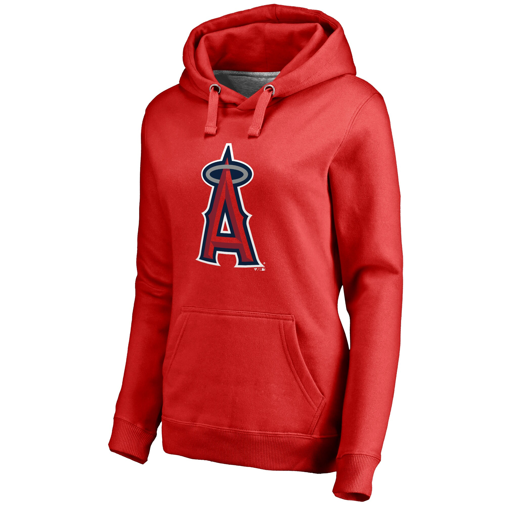 Los Angeles Angels Women's Team Color Primary Logo Pullover Hoodie - Red