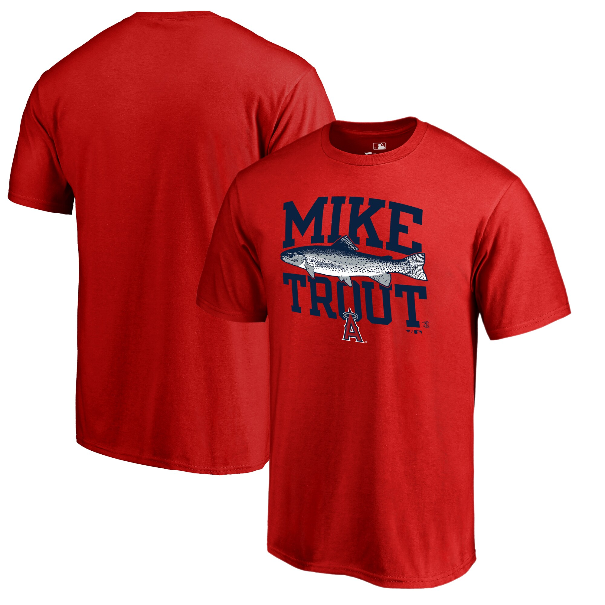 Mike Trout Los Angeles Angels Fanatics Branded Player Hometown Collection T-Shirt - Red
