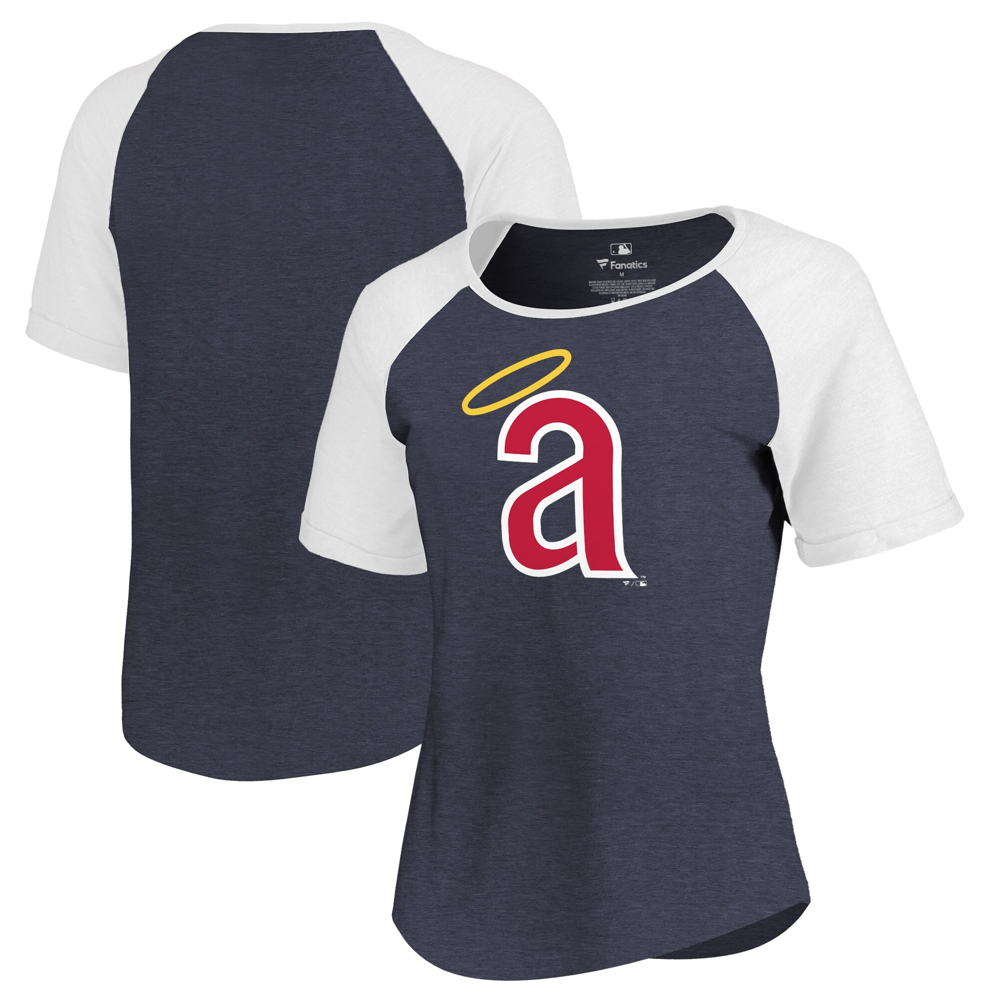 Los Angeles Angels Fanatics Branded Women's Huntington Cooperstown Collection Tri-Blend T-Shirt - Navy