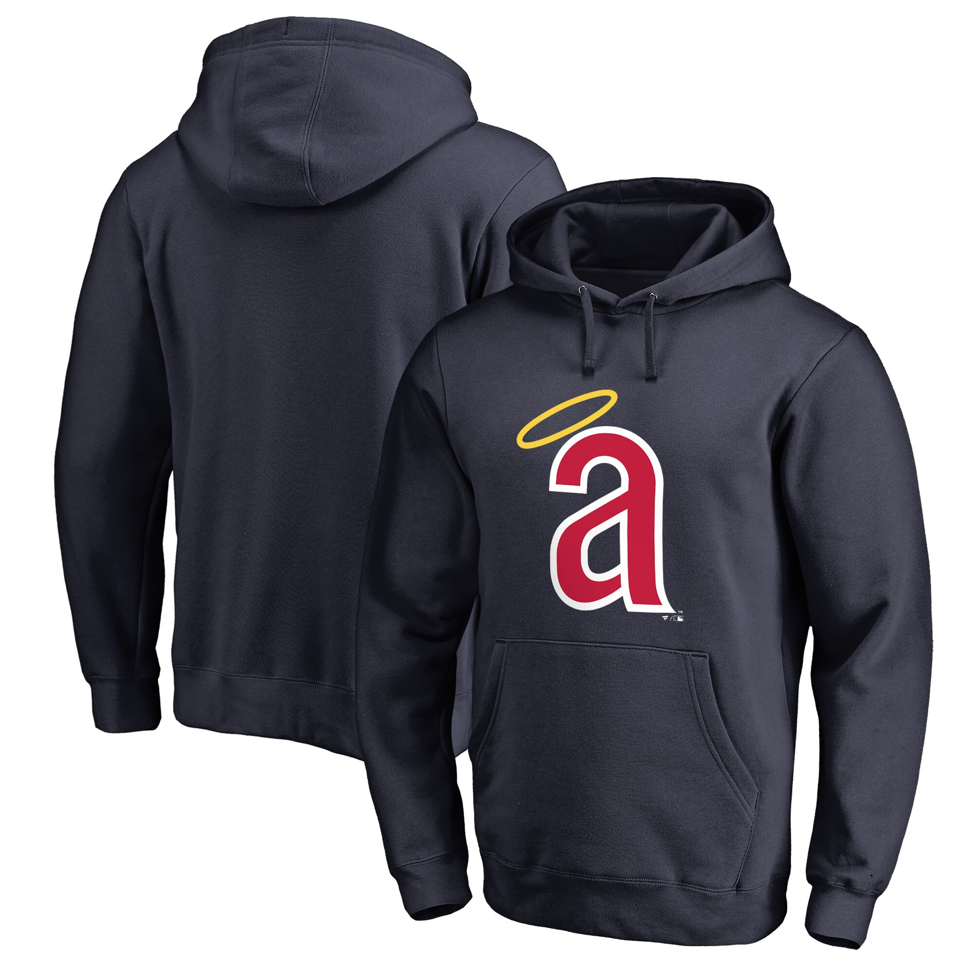 Los Angeles Angels Fanatics Branded Cooperstown Collection Huntington Pullover Hoodie - Navy
