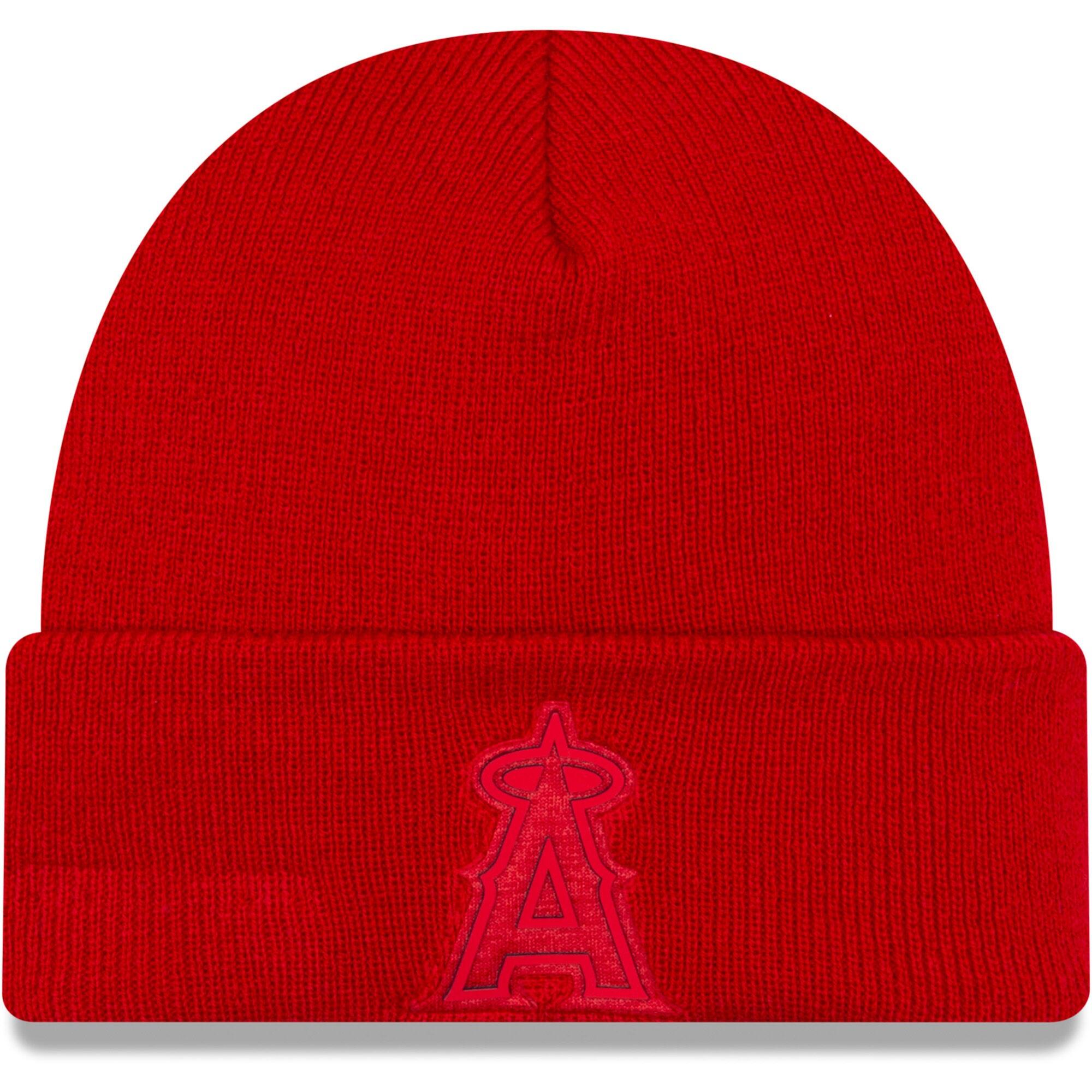 Los Angeles Angels New Era Vivid Cuffed Knit Hat - Red