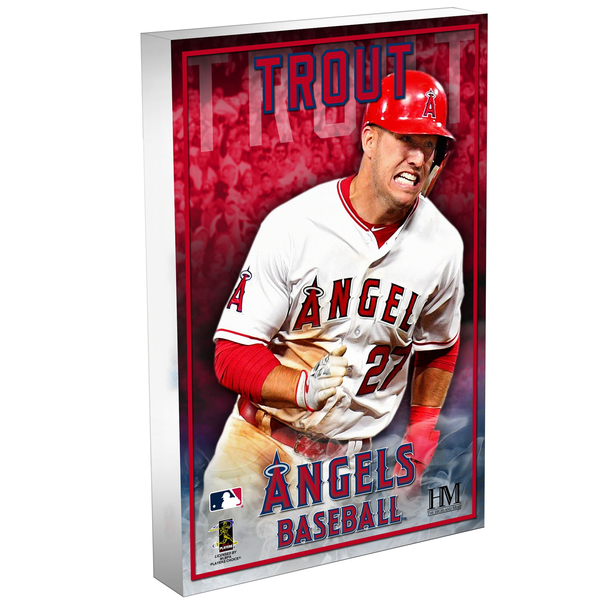 Mike Trout Los Angeles Angels Highland Mint 3D Acrylic Blockart