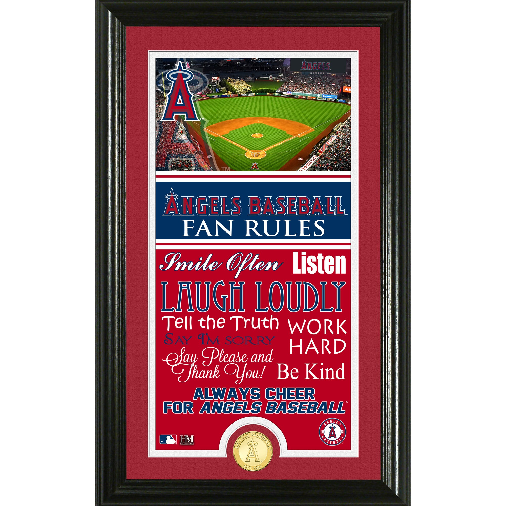 Los Angeles Angels Highland Mint Fan Rules Supreme Bronze Coin Photo Mint