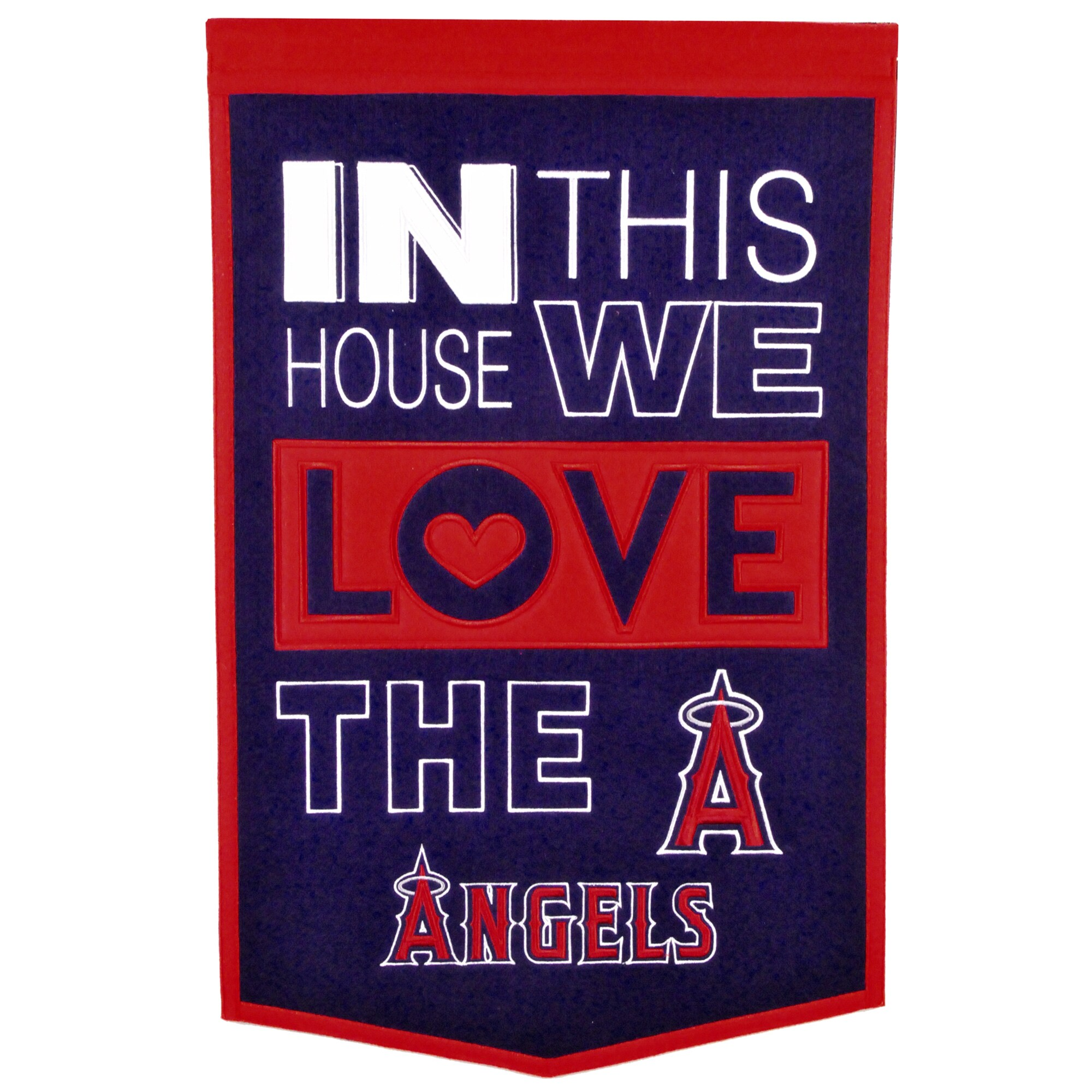 Los Angeles Angels 15'' x 24'' Home Banner - Navy/Red