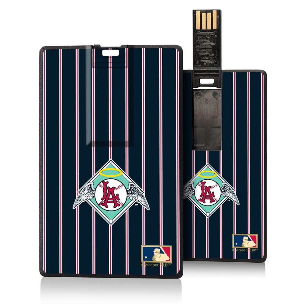 Los Angeles Angels 1961-1965 Cooperstown Pinstripe Credit Card USB Drive