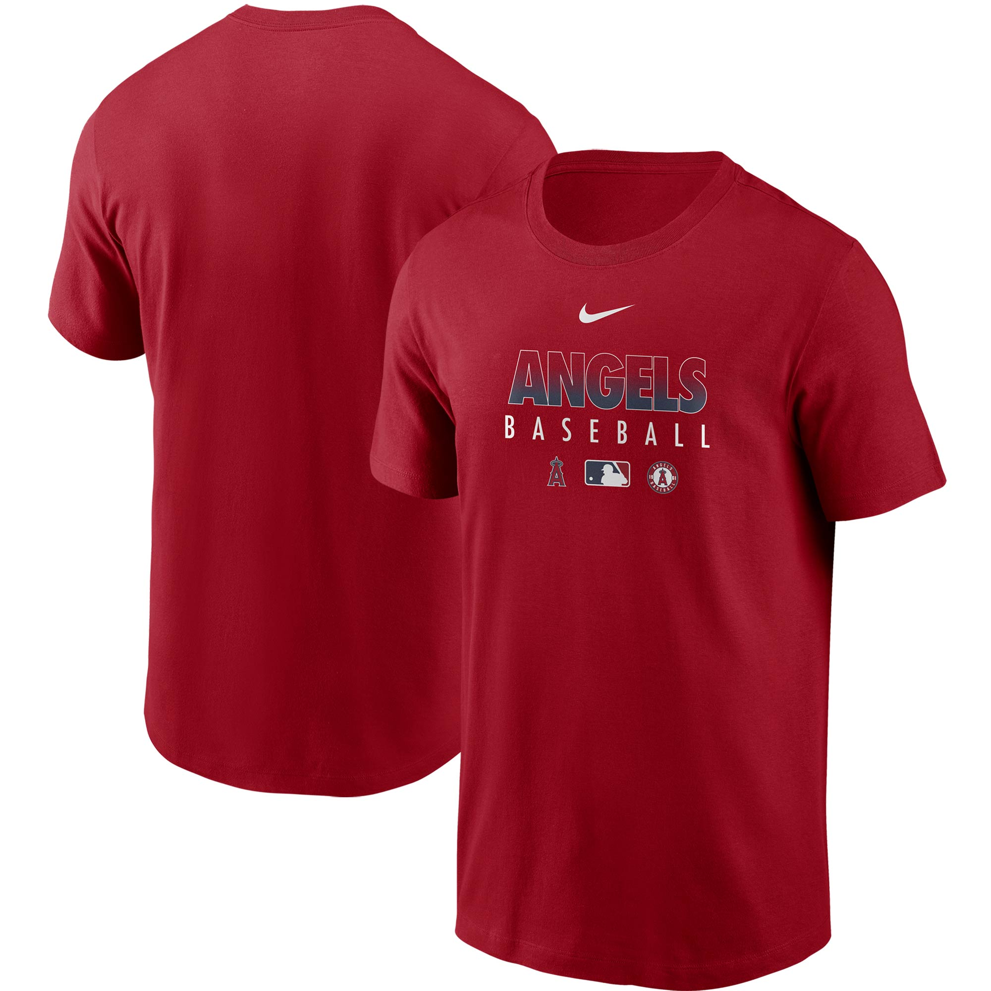 Los Angeles Angels Nike Authentic Collection Team Performance T-Shirt - Red