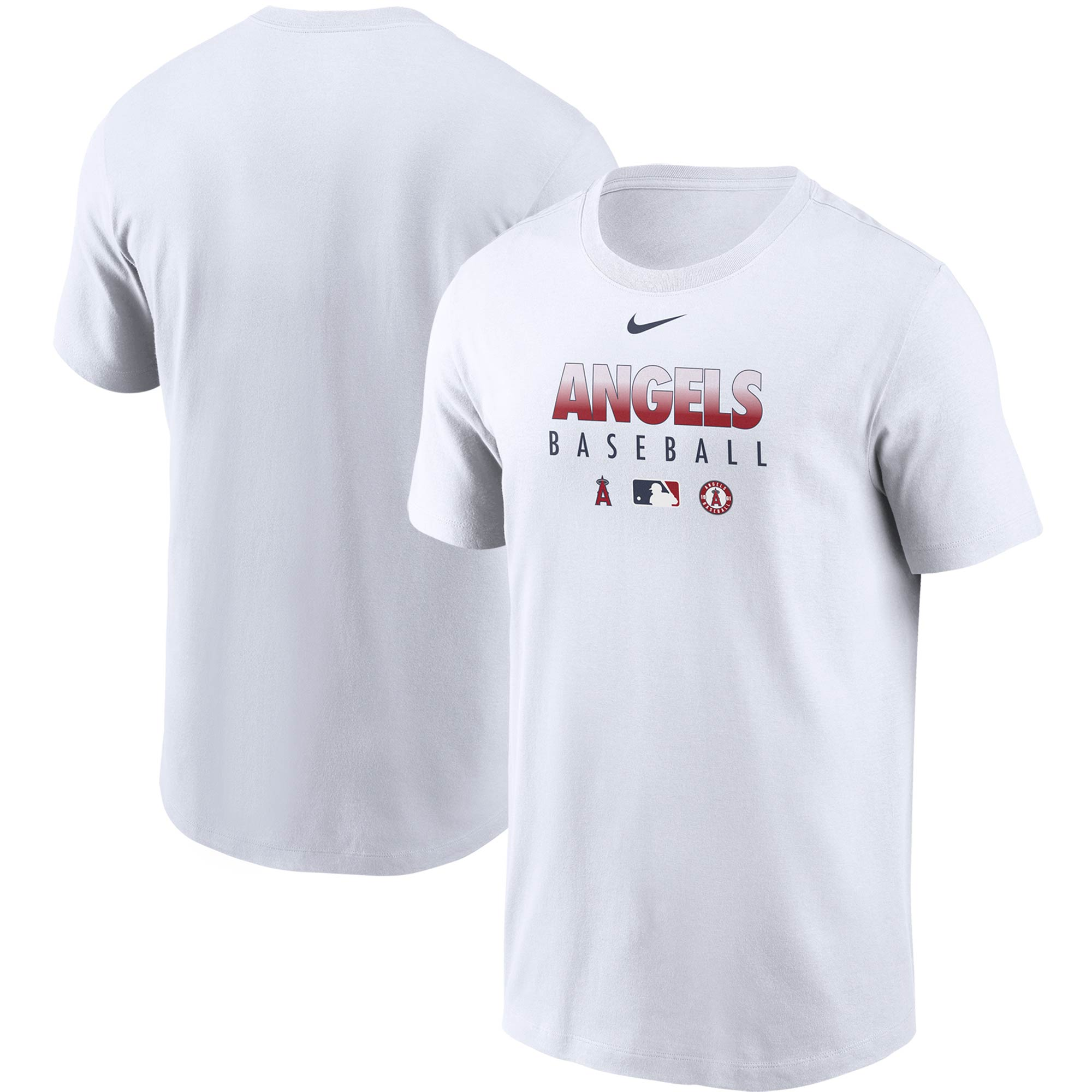 Los Angeles Angels Nike Authentic Collection Team Performance T-Shirt - White