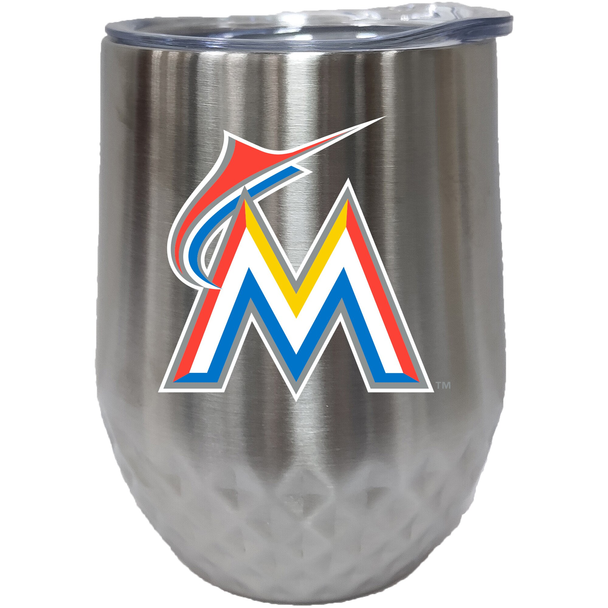 Miami Marlins 12oz. Stainless Steel Stemless Diamond Tumbler