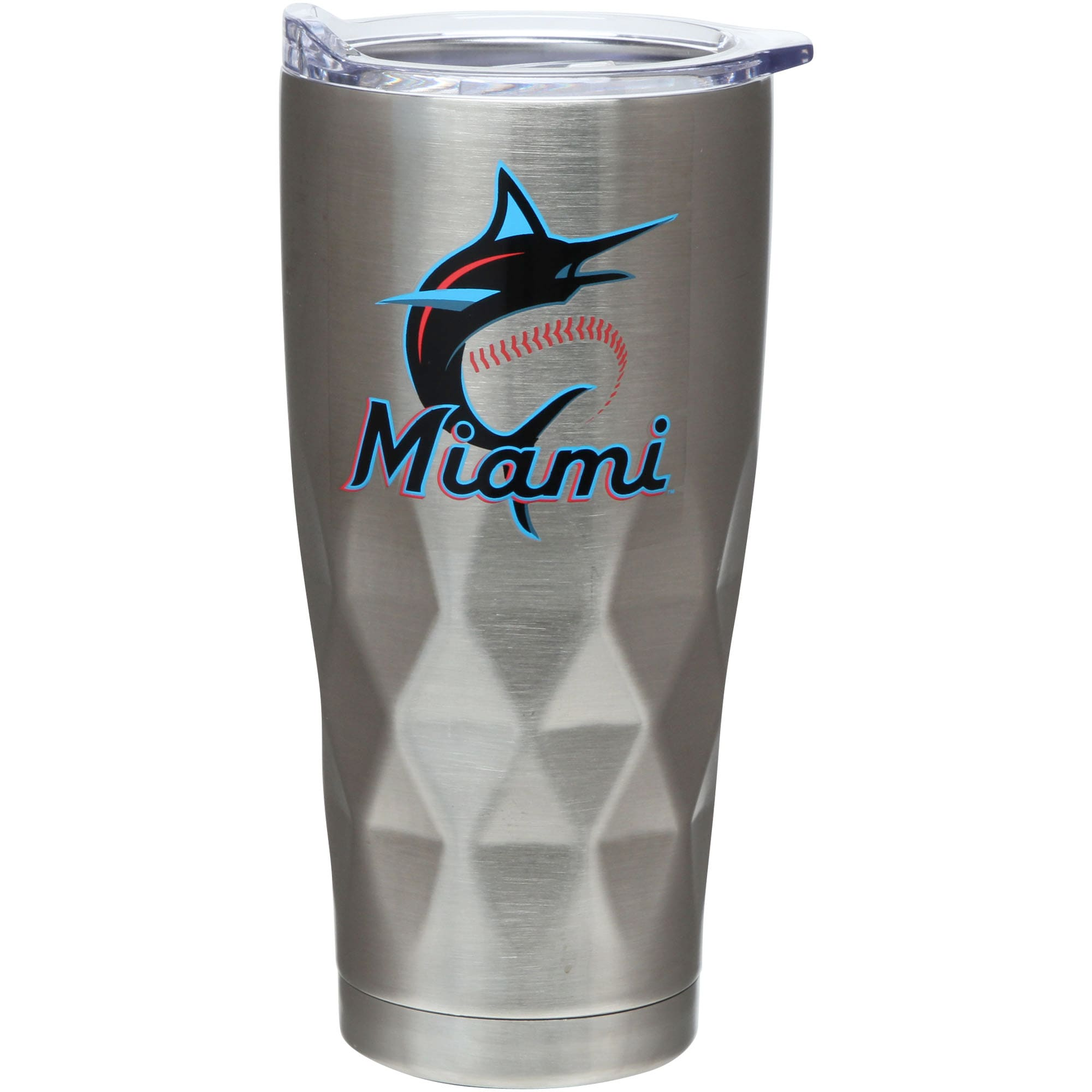 Miami Marlins 22oz. Diamond Bottom Stainless Steel Tumbler