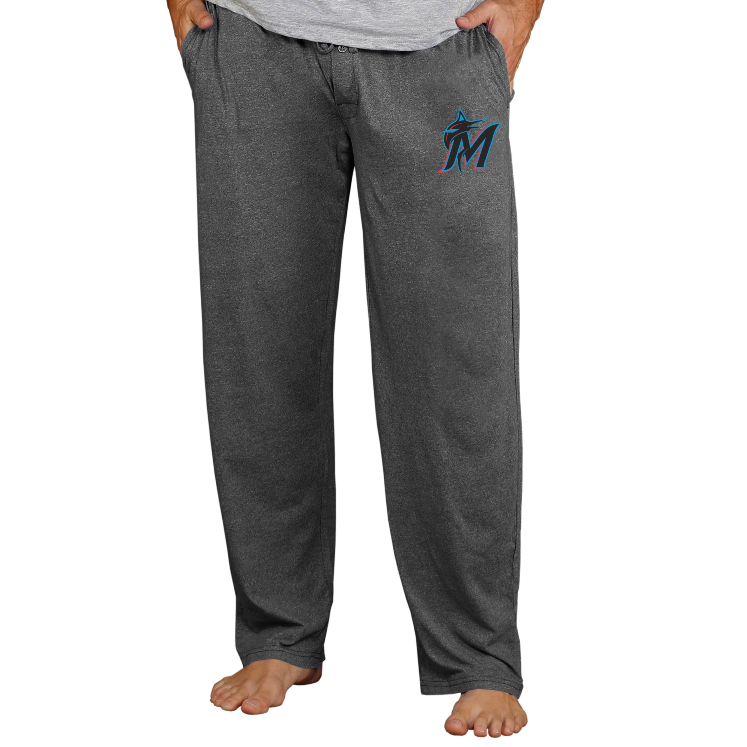 Miami Marlins Concepts Sport Quest Lounge Pants - Charcoal