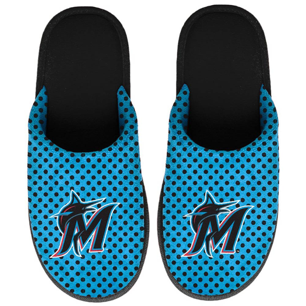 Miami Marlins Women's Big Logo Scuff Slippers
