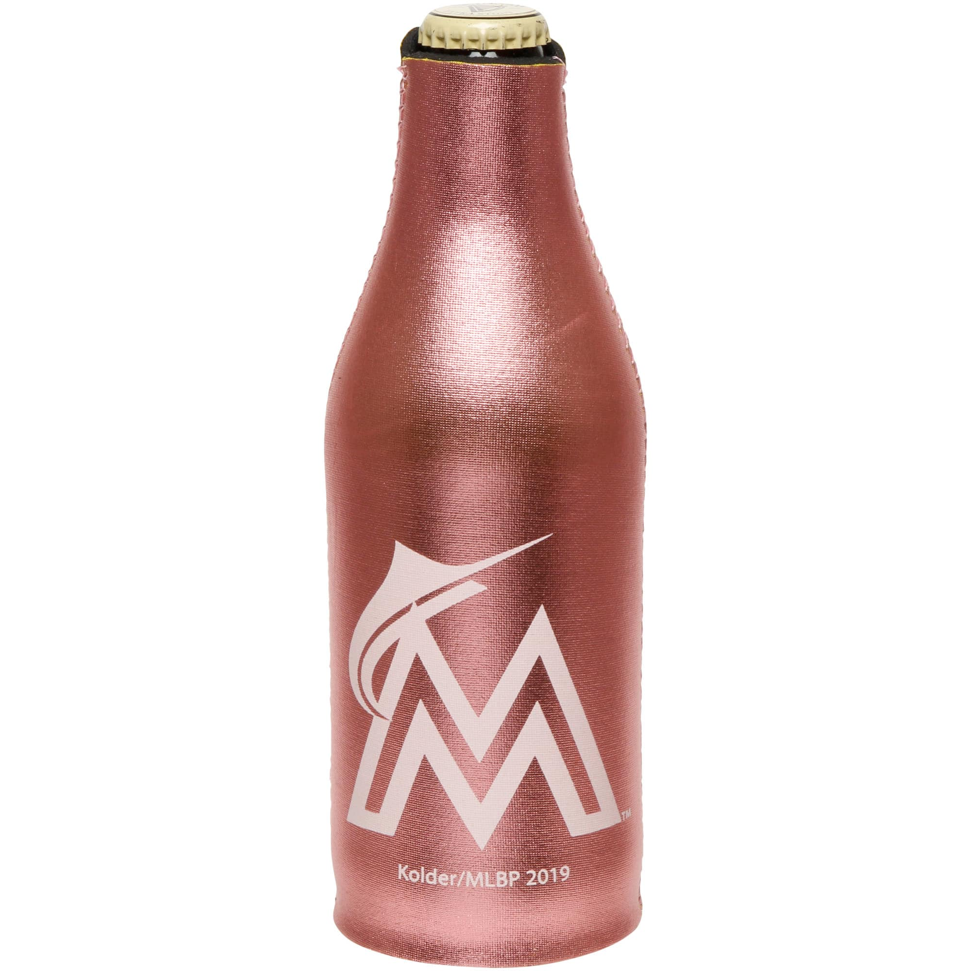 Miami Marlins 12oz. Rose Gold Bottle Cooler