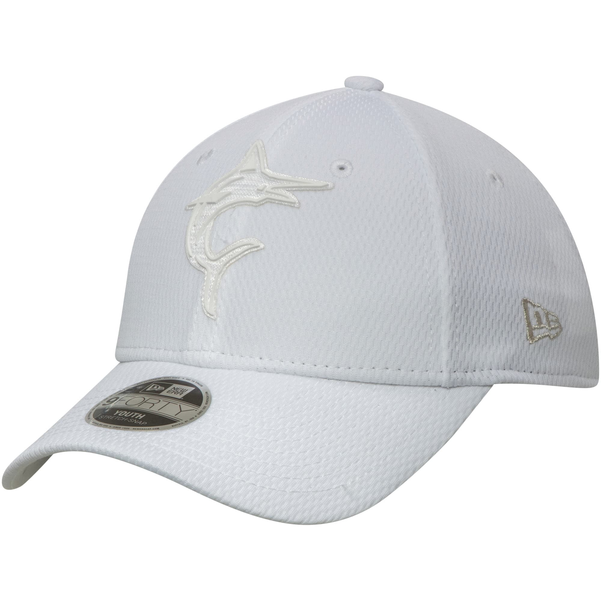Miami Marlins New Era Youth 2019 Players' Weekend 9FORTY Adjustable Hat - White
