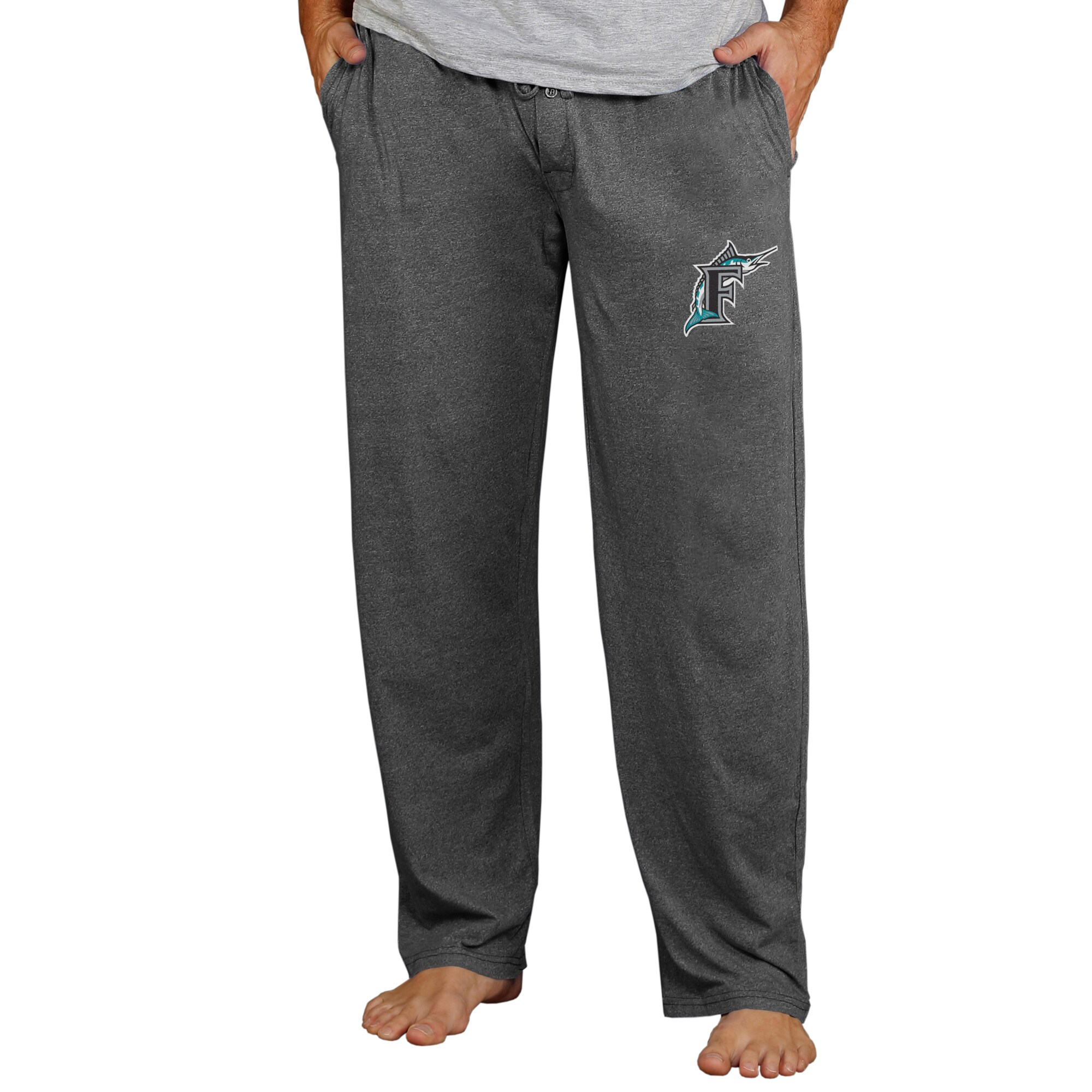 Miami Marlins Concepts Sport Cooperstown Quest Lounge Pants - Charcoal