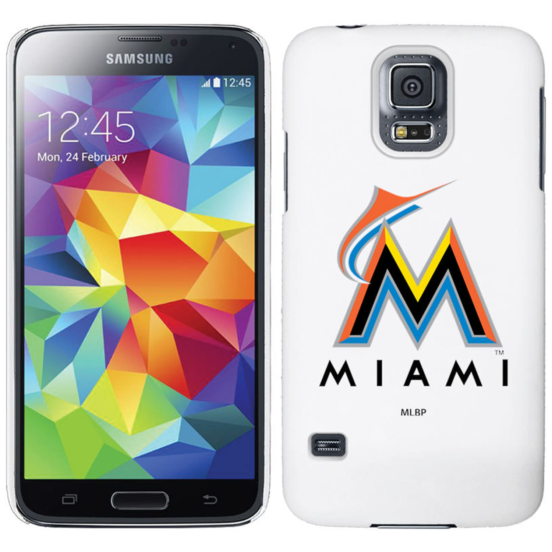 Miami Marlins Galaxy S5 Primary Logo Thinshield Case - White