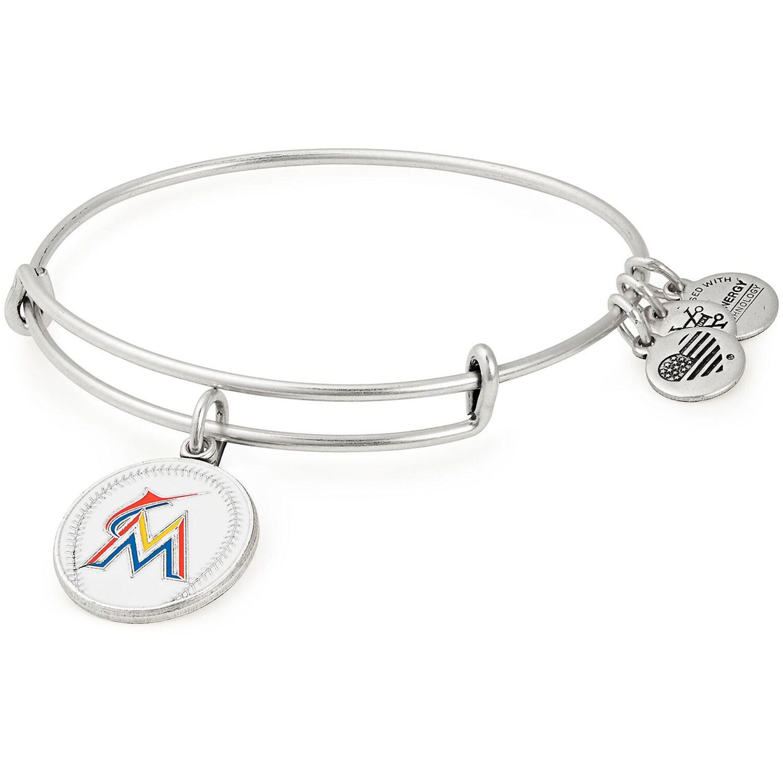 Miami Marlins Alex & Ani Women's Stack Bracelet
