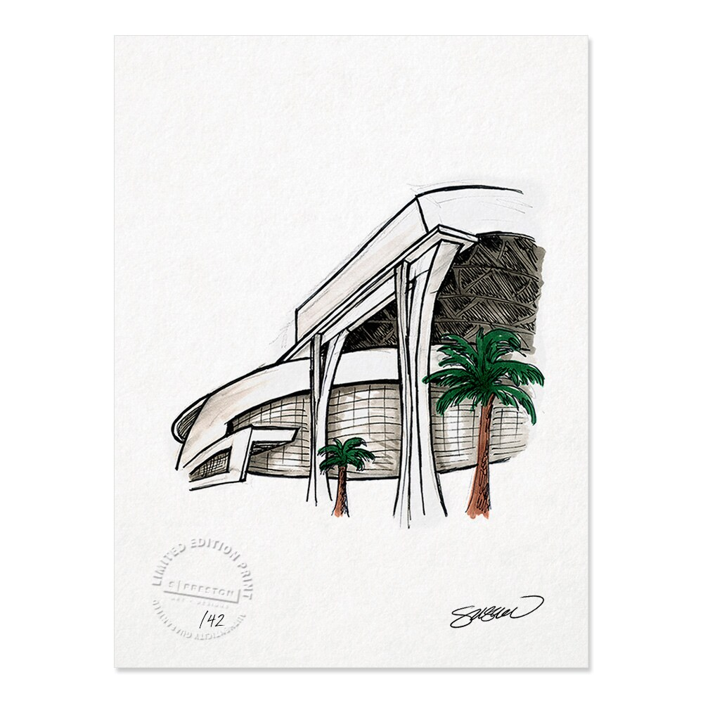 "Miami Marlins 8.5"" x 11"" Sketch Art Print"