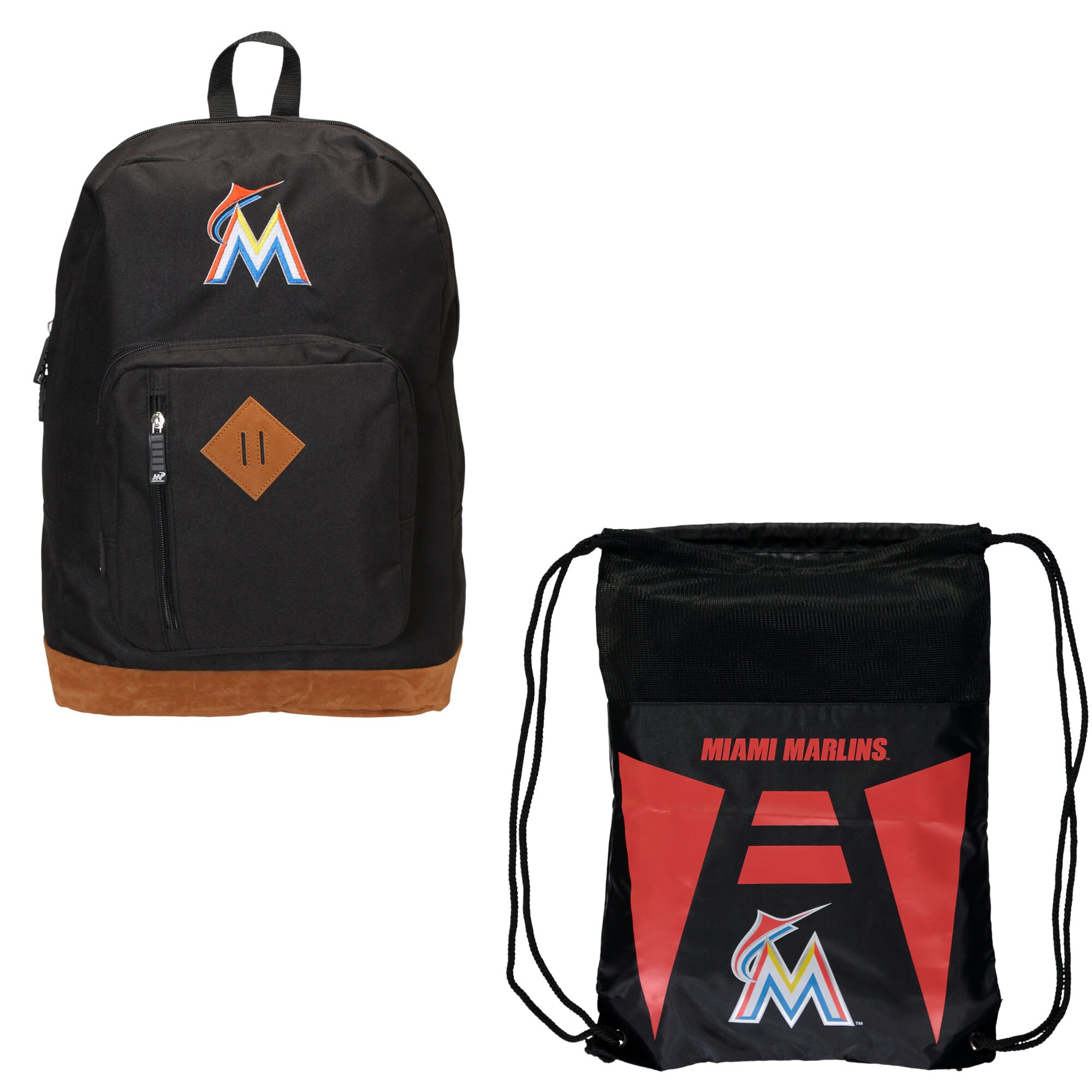 Miami Marlins The Northwest Company Double Down Backpack Set