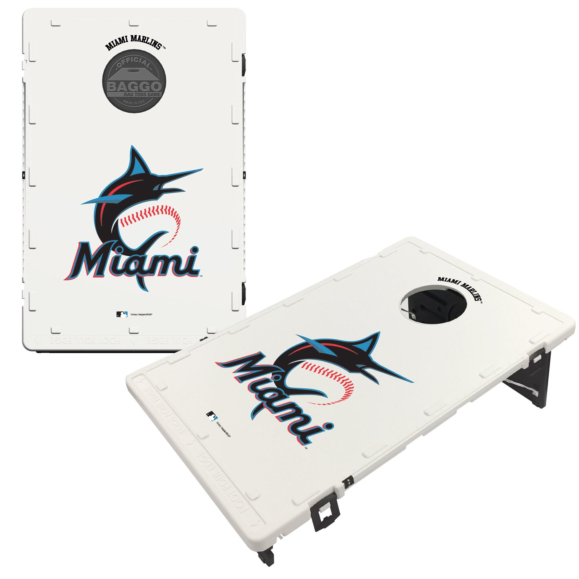 Miami Marlins 2' x 3' BAGGO Classic Cornhole Board Tailgate Toss Set