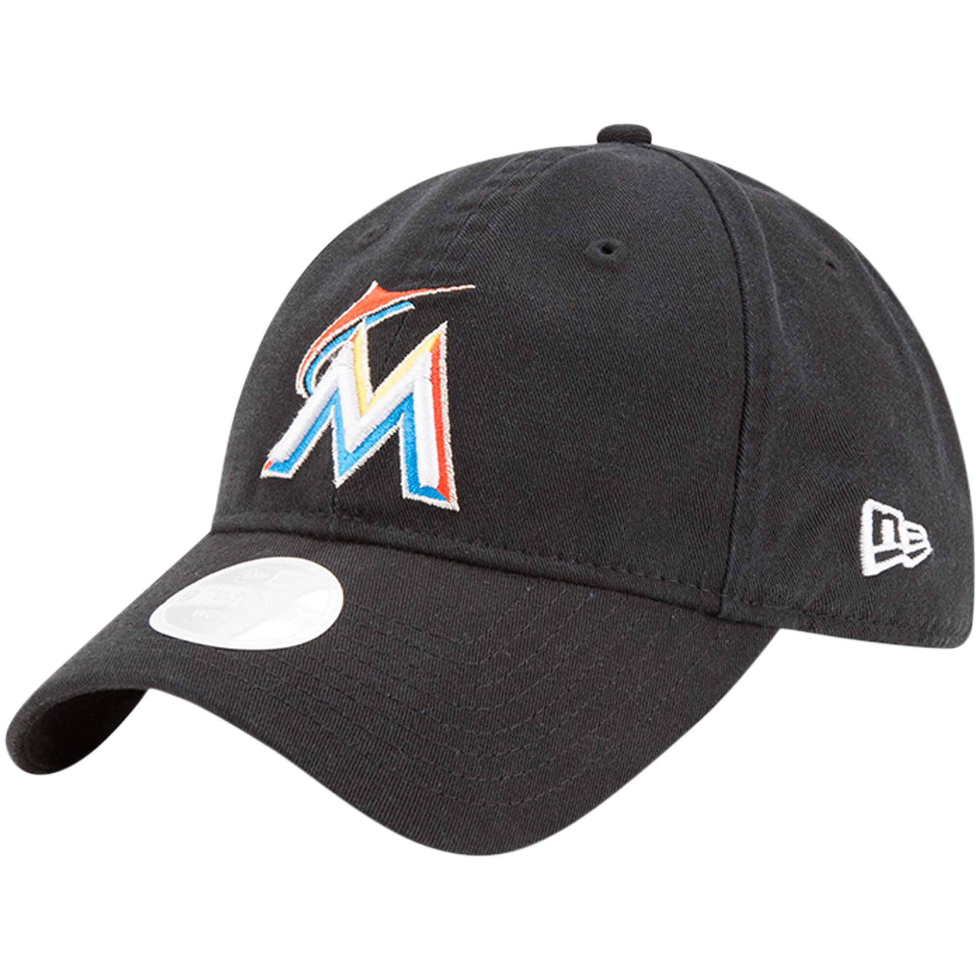 New Era Miami Marlins Women's Black Preferred Pick 9TWENTY Adjustable Hat