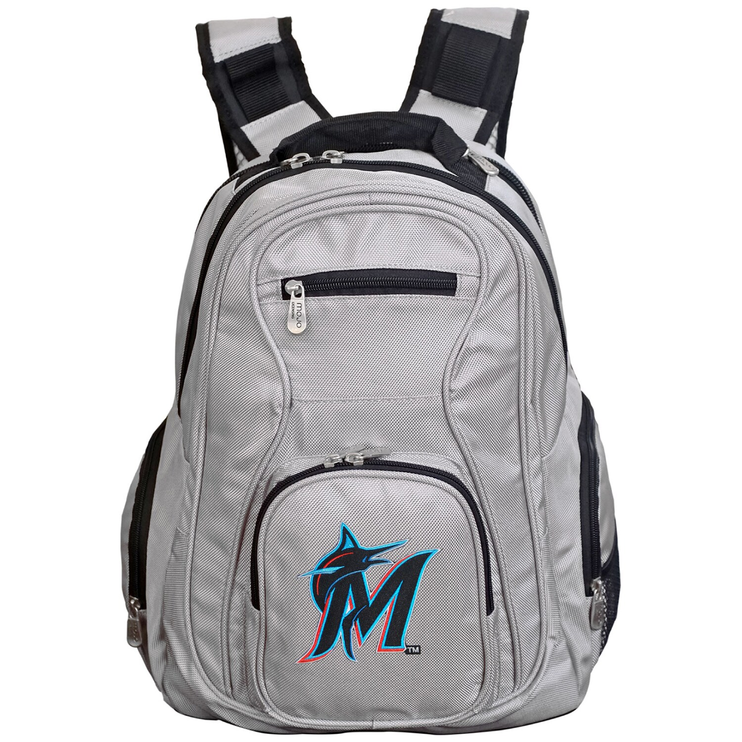 Miami Marlins Backpack Laptop - Gray
