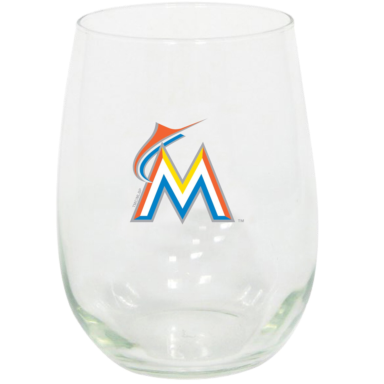 Miami Marlins 15oz. Stemless Wine Glass