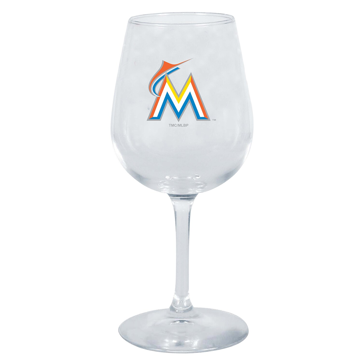 Miami Marlins 12oz. Stemmed Wine Glass