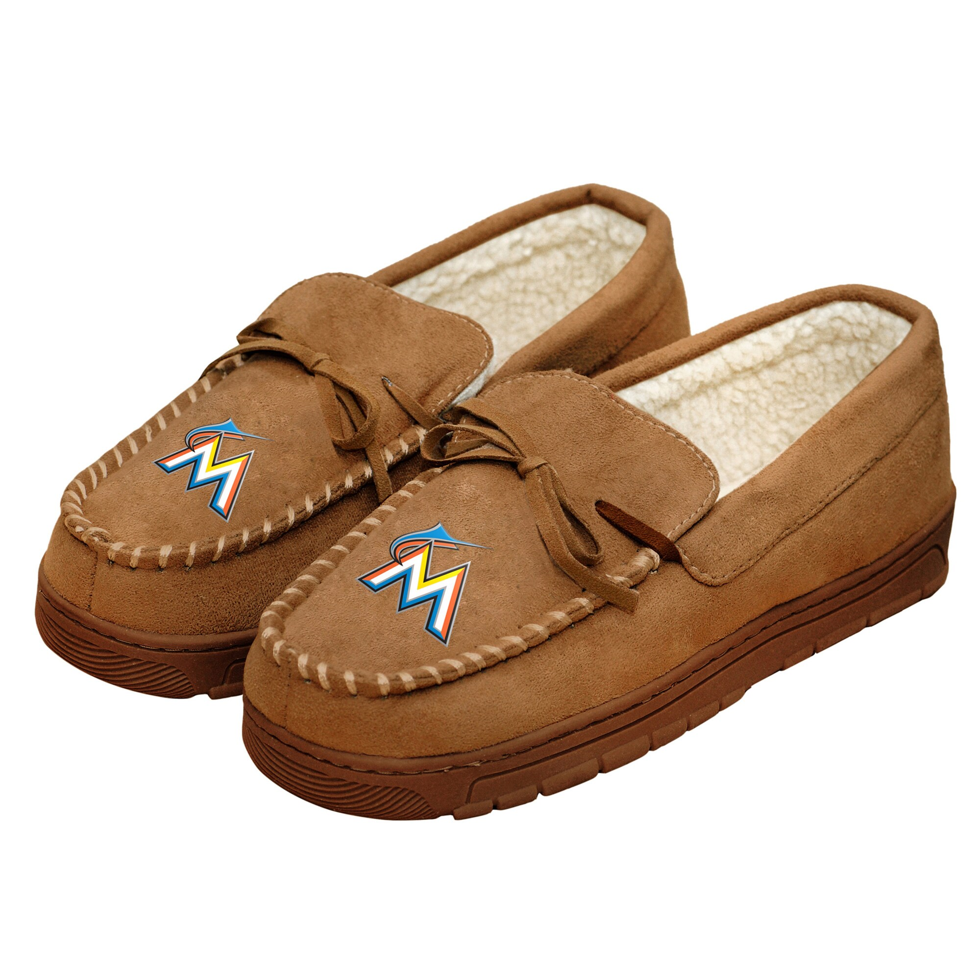 Miami Marlins Moccasin Slippers