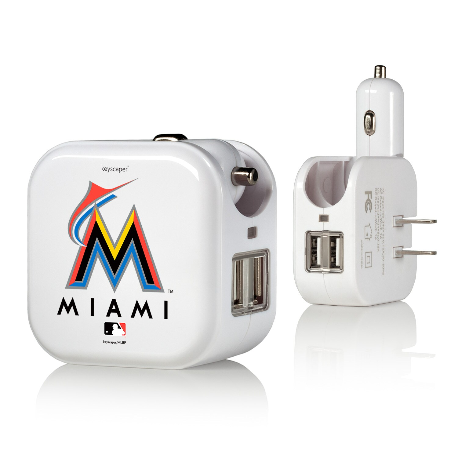 Miami Marlins 2-In-1 USB Charger