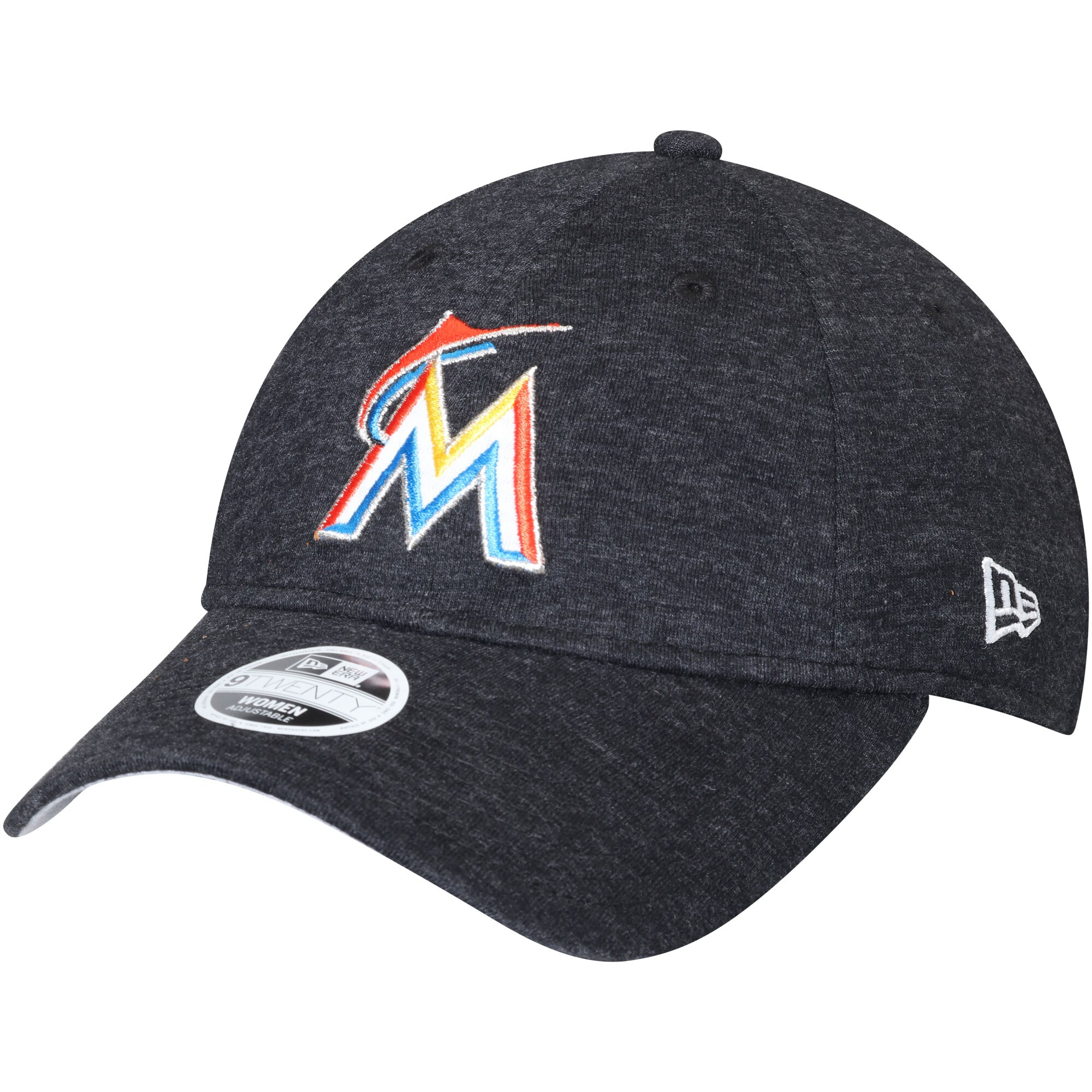 Miami Marlins New Era Women's Team Multi Tone 9TWENTY Adjustable Hat - Heathered Black