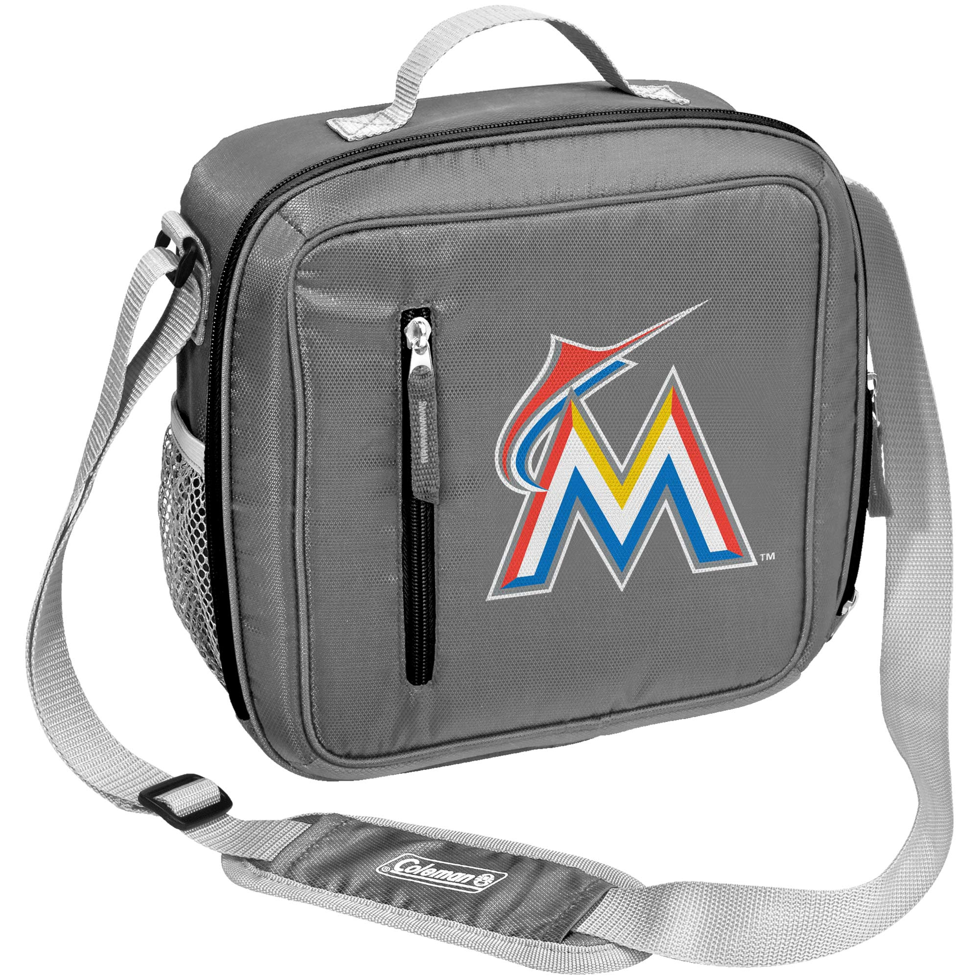 Miami Marlins Coleman Team Logo Messenger Cooler