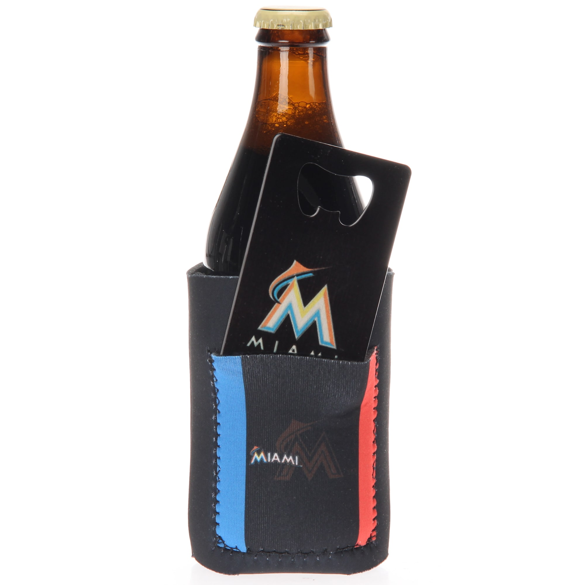 Miami Marlins Can Insulator with Pocket & Opener
