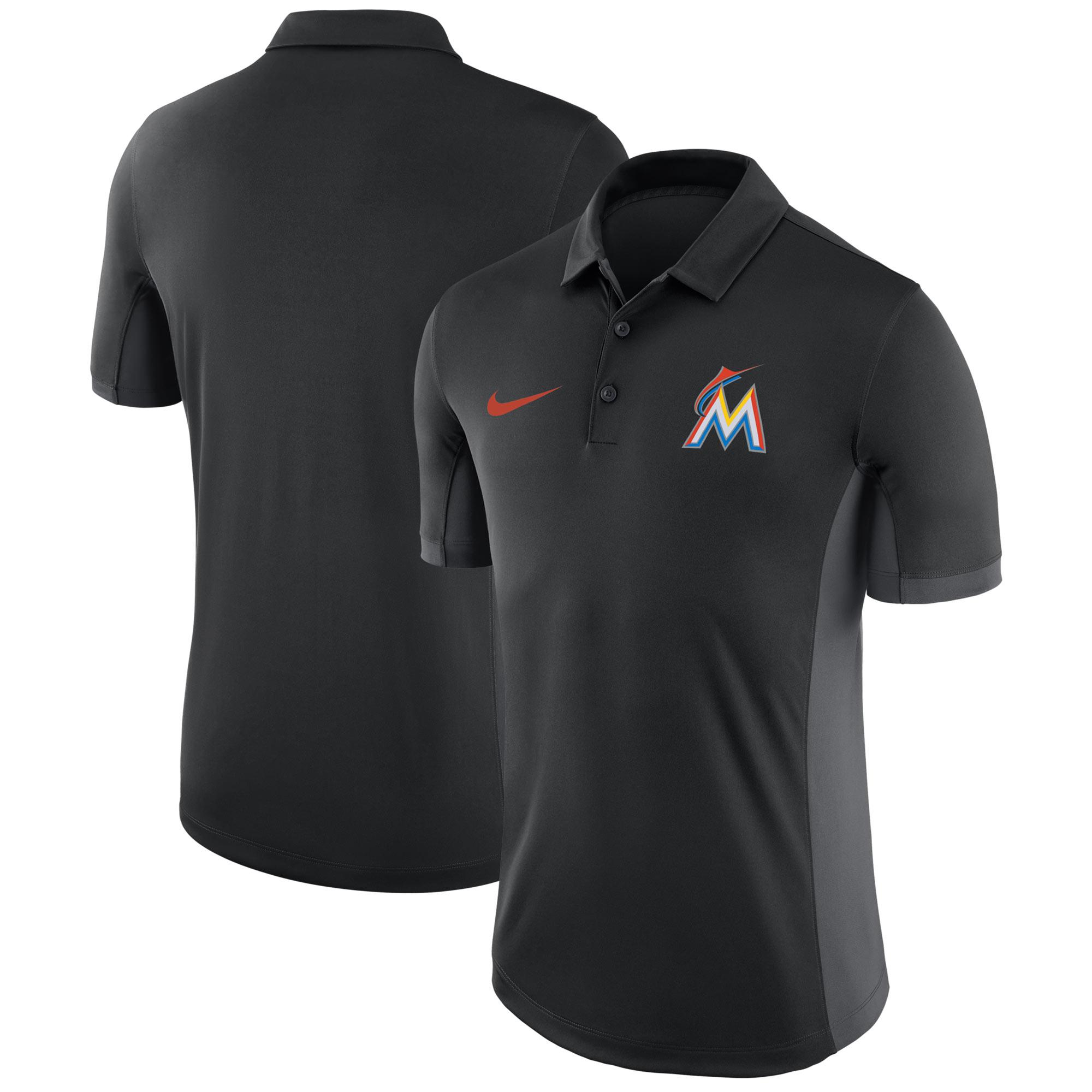 Miami Marlins Nike Franchise Polo - Black