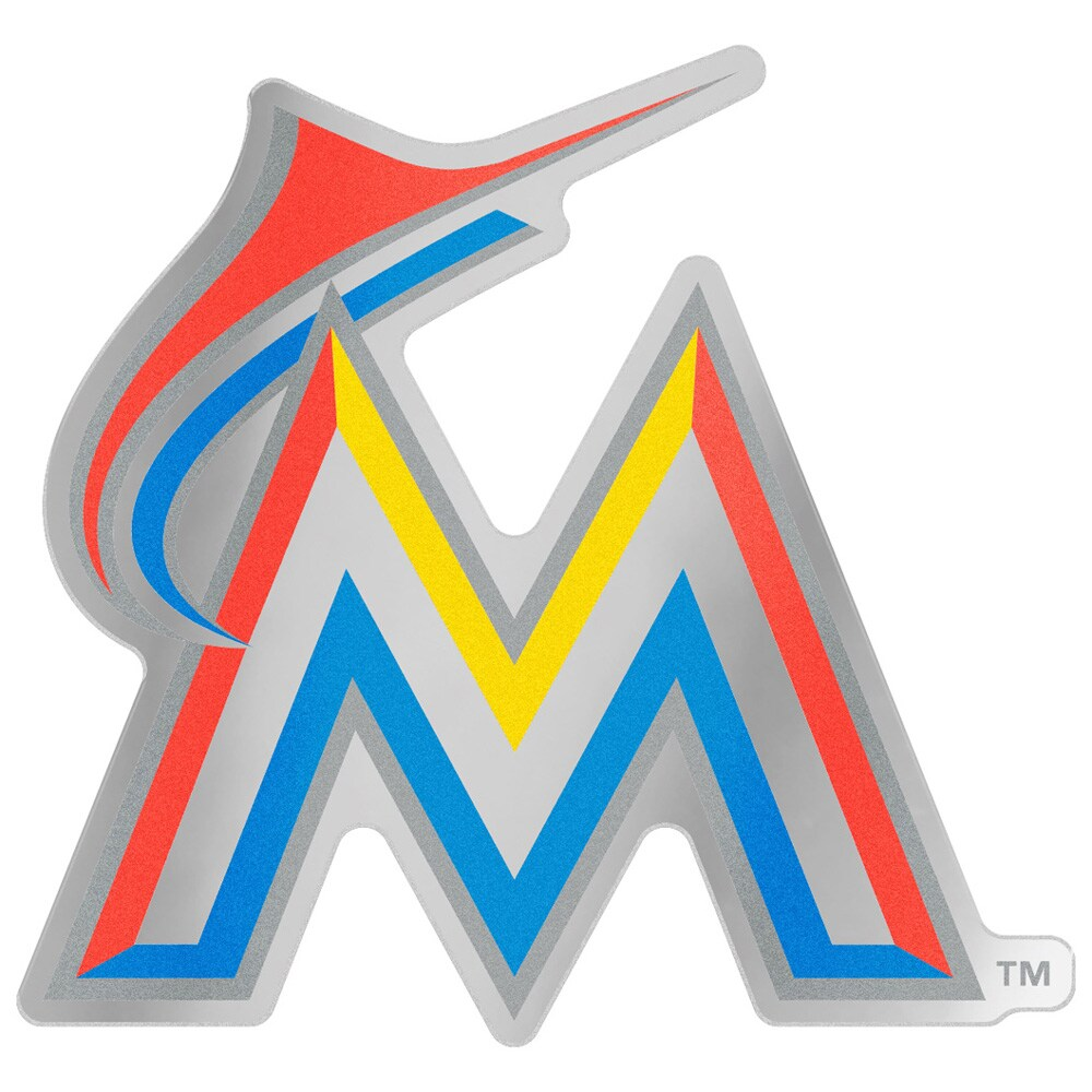 "Miami Marlins WinCraft 5"" x 2.5"" Auto Emblem Decal"