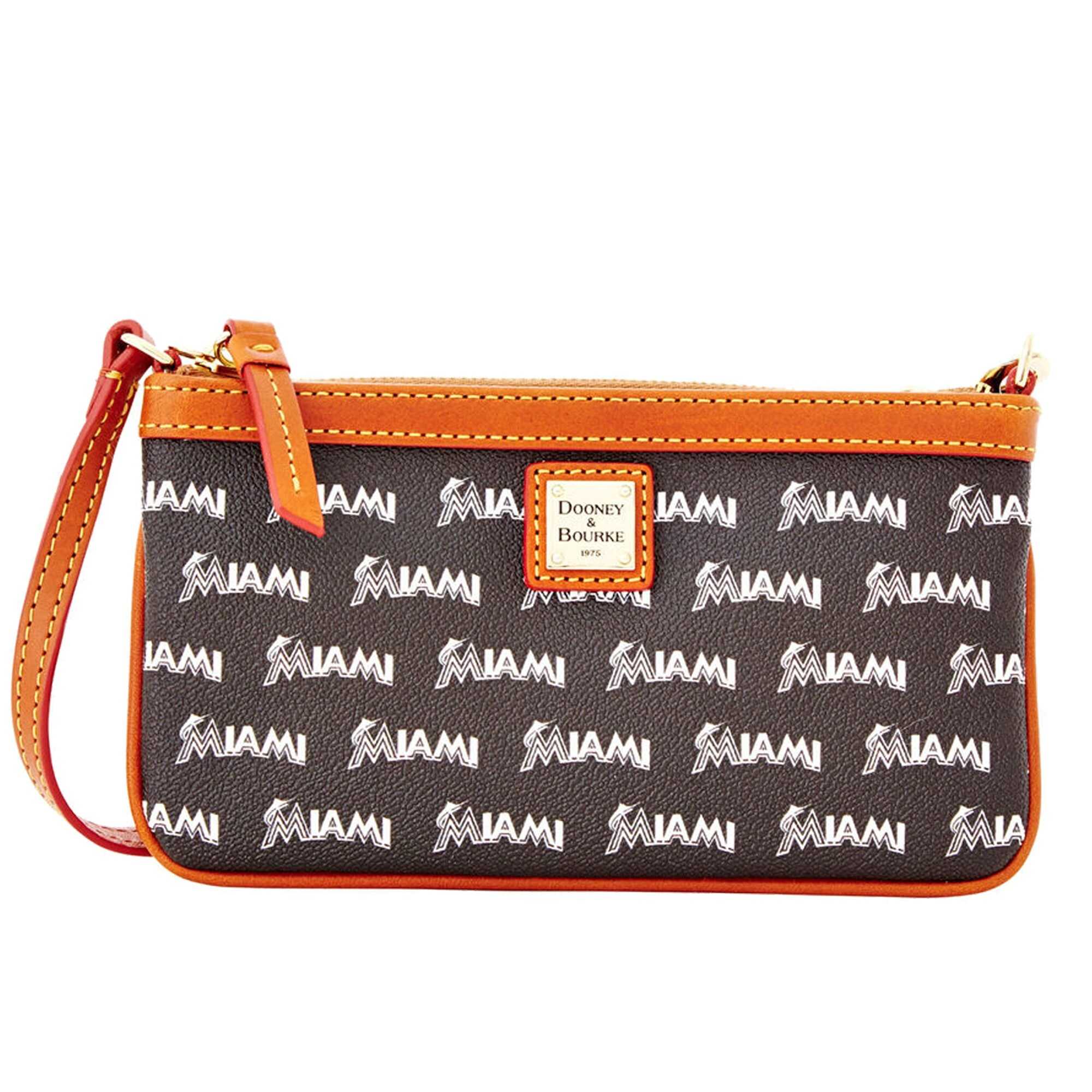Miami Marlins Dooney & Bourke Women's Team Color Large Slim Wristlet