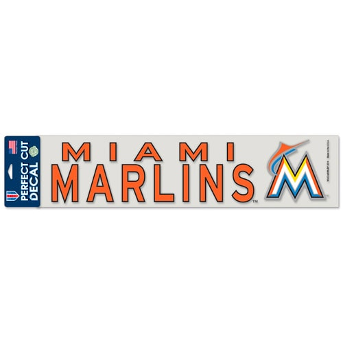 "Miami Marlins WinCraft 4"" x 17"" Die Cut Decal - Orange"