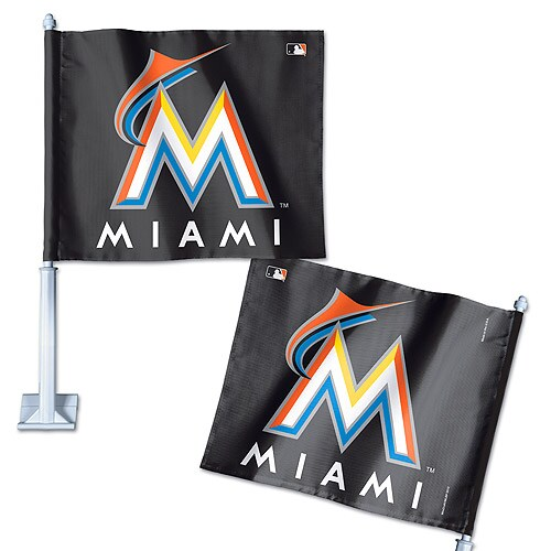 "Miami Marlins WinCraft 11"" x 13"" Double-Sided Car Flag"