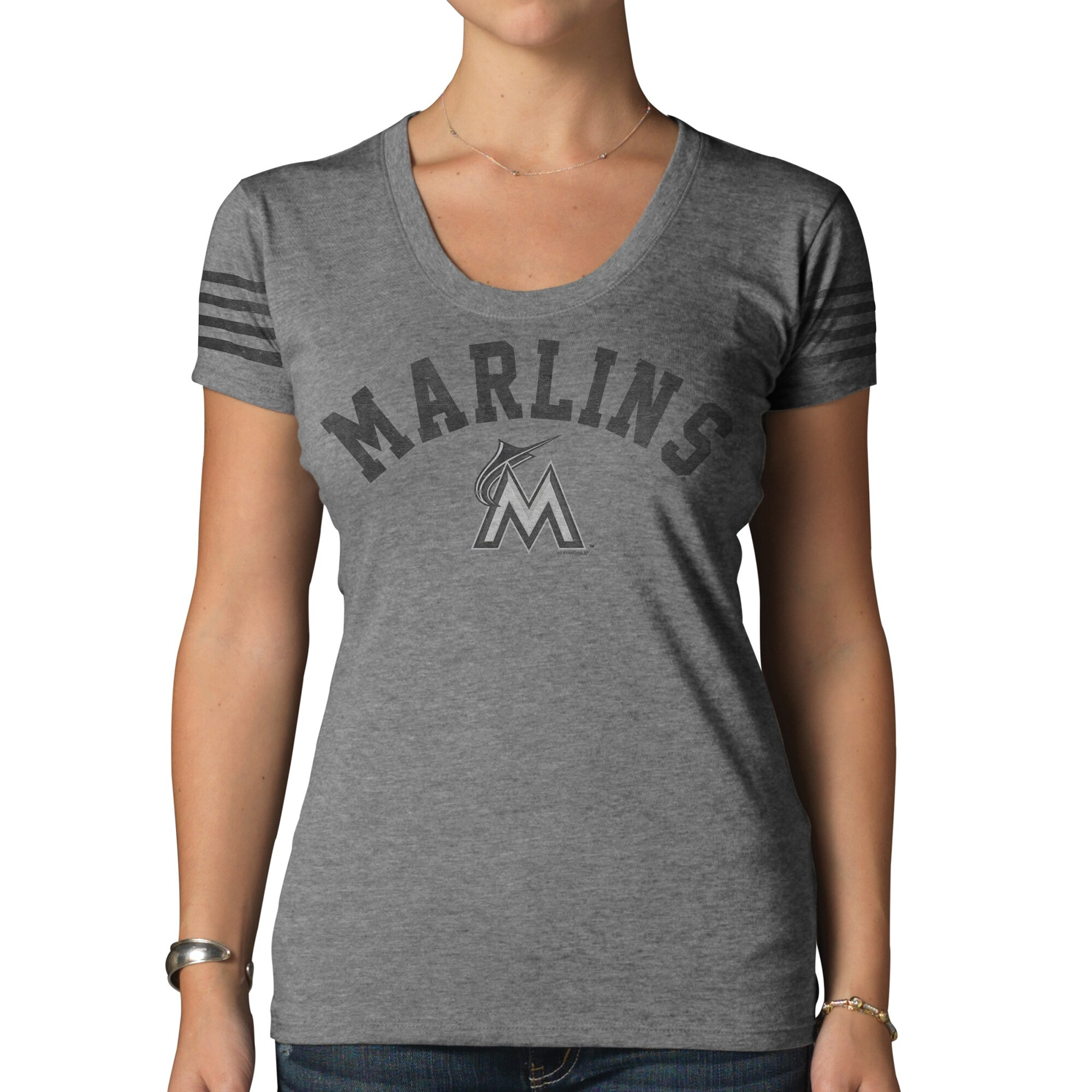 Miami Marlins '47 Women's Hot Shot T-Shirt - Gray