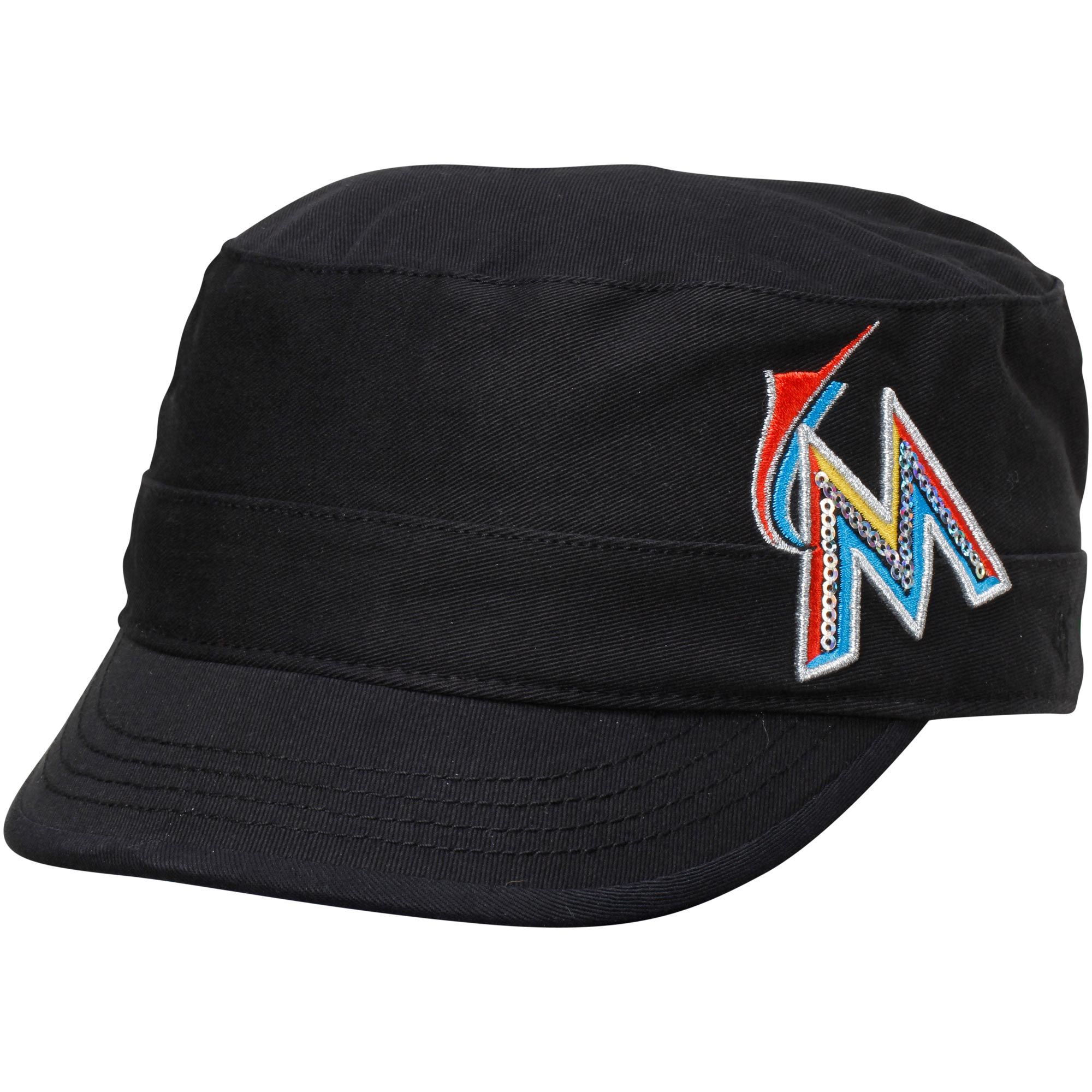Miami Marlins '47 Women's Cabaret Cadet Hat - Black
