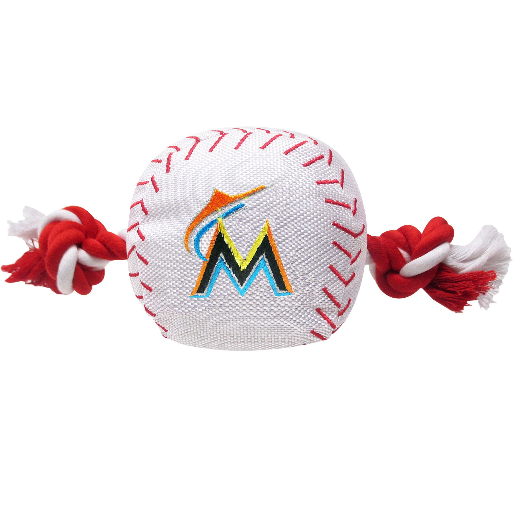 Miami Marlins Dog Baseball Rope Toy