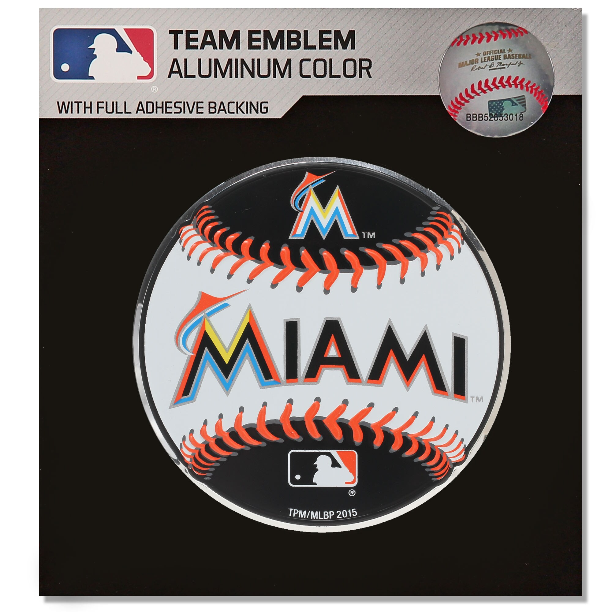 Miami Marlins Baseball Emblem Decal