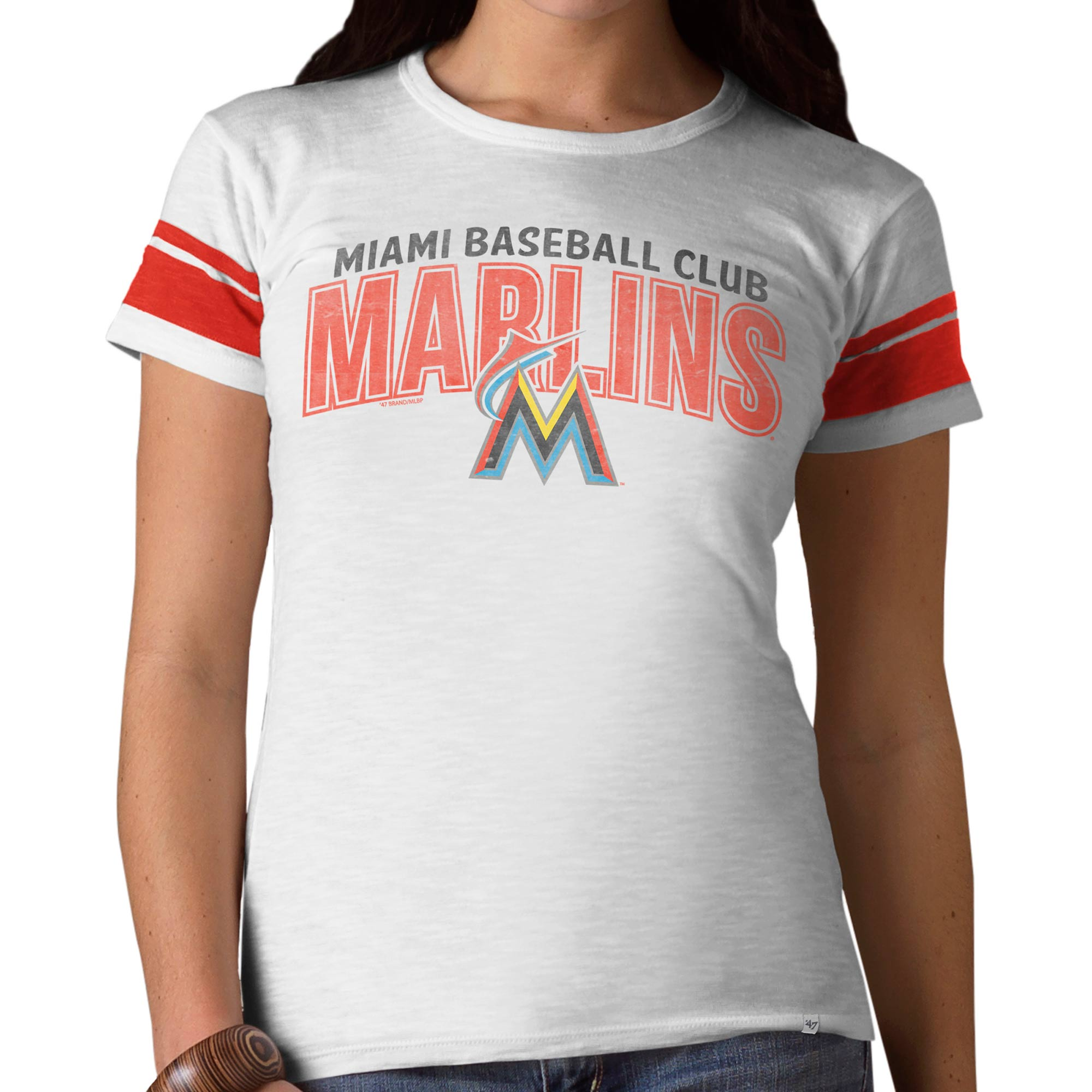 Miami Marlins '47 Women's Gametime T-Shirt - White